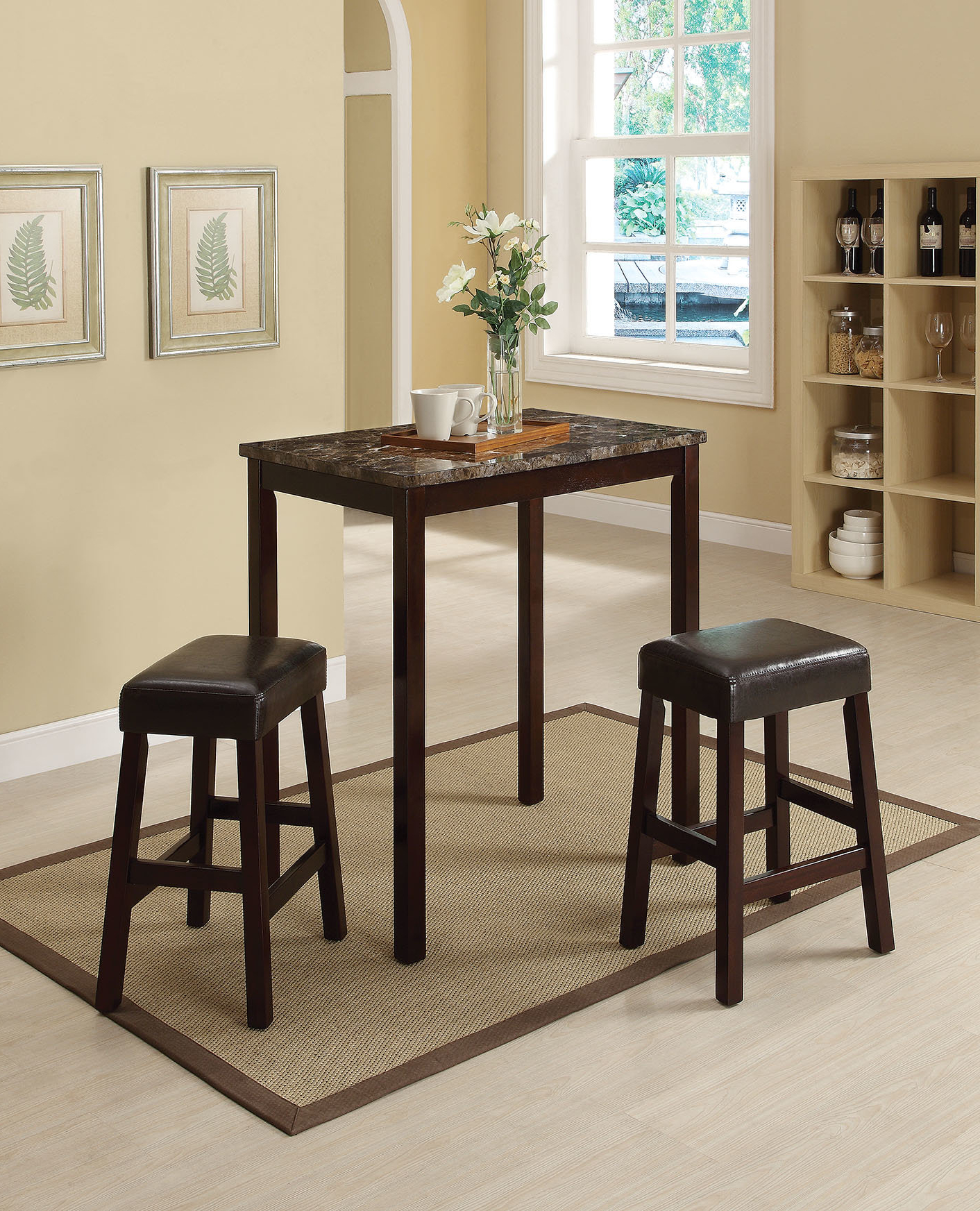 Popular Mitzel 3 Piece Dining Sets In Askern 3 Piece Counter Height Dining Set (View 16 of 20)