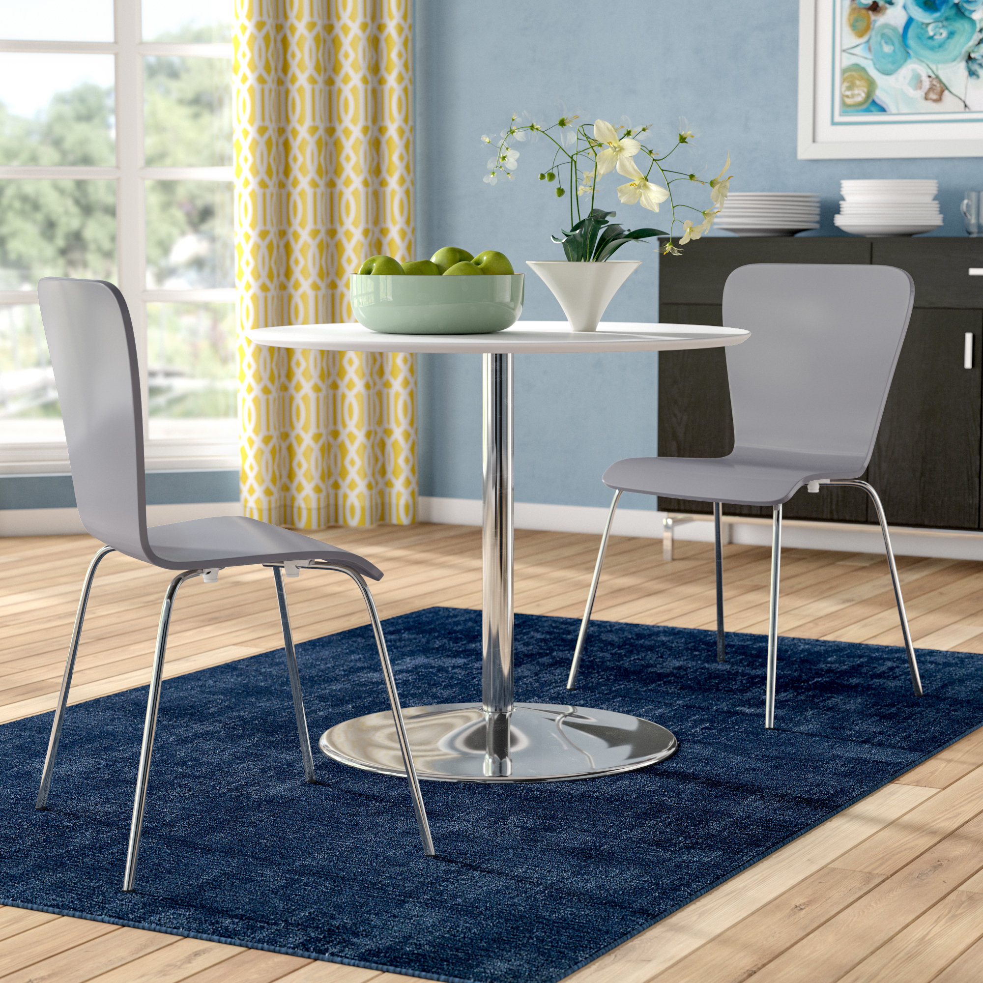 Popular Theotis 3 Piece Dining Set Within Emmeline 5 Piece Breakfast Nook Dining Sets (View 15 of 20)