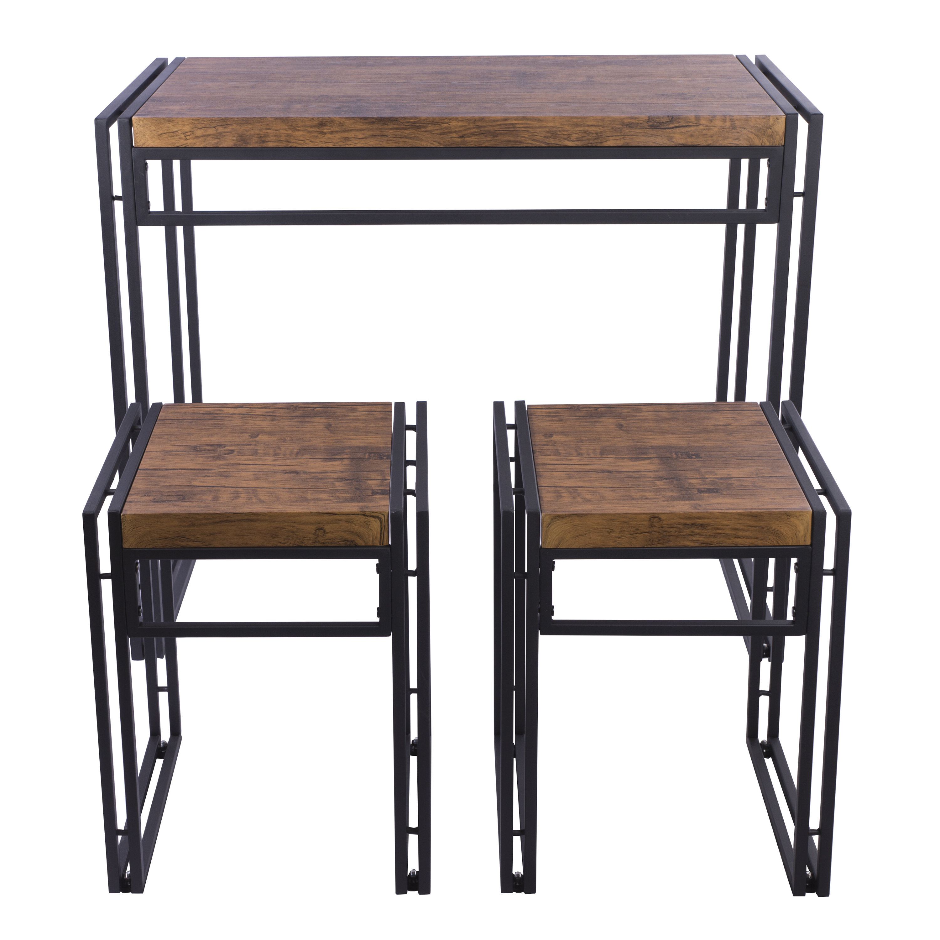 Popular Williston Forge Debby Small Space 3 Piece Dining Set Within Ryker 3 Piece Dining Sets (View 6 of 20)