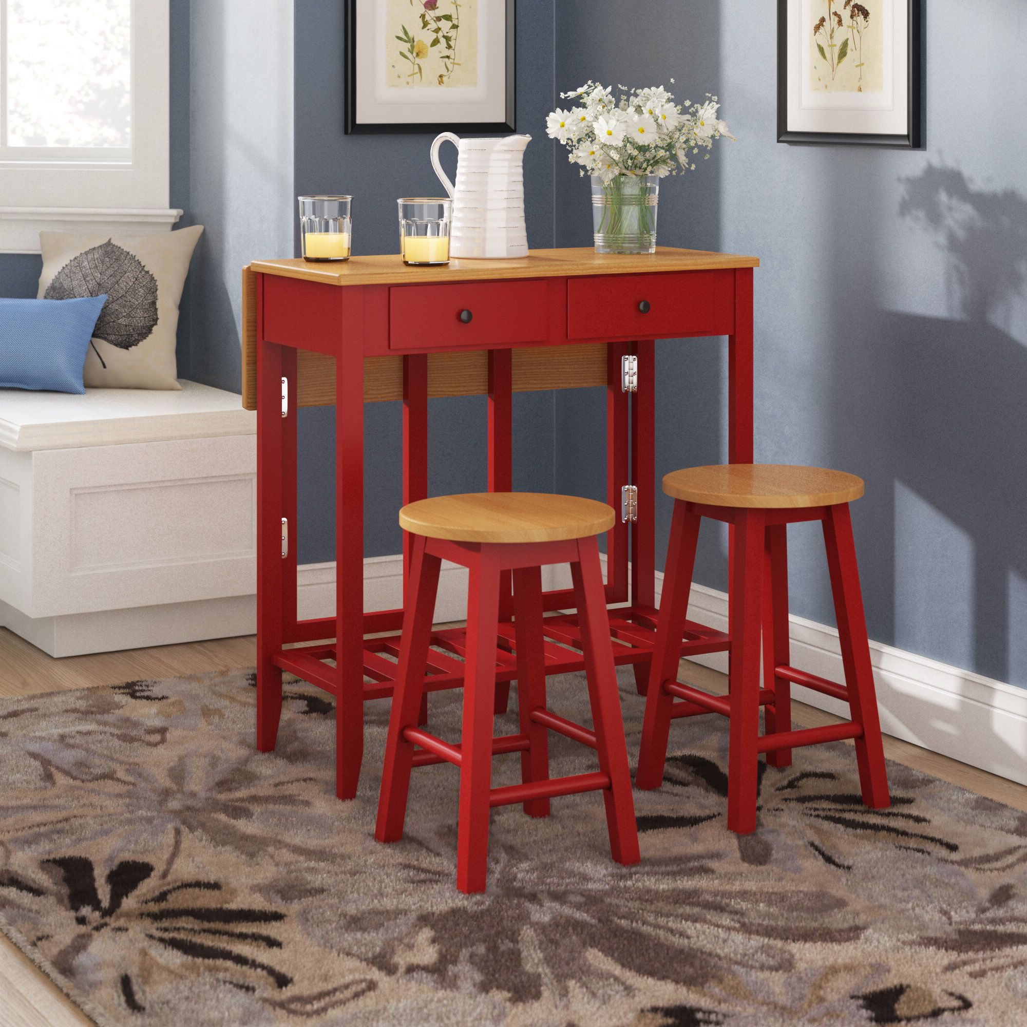 Poynter 3 Piece Drop Leaf Dining Sets In Trendy Pinterest – Пинтерест (View 13 of 20)
