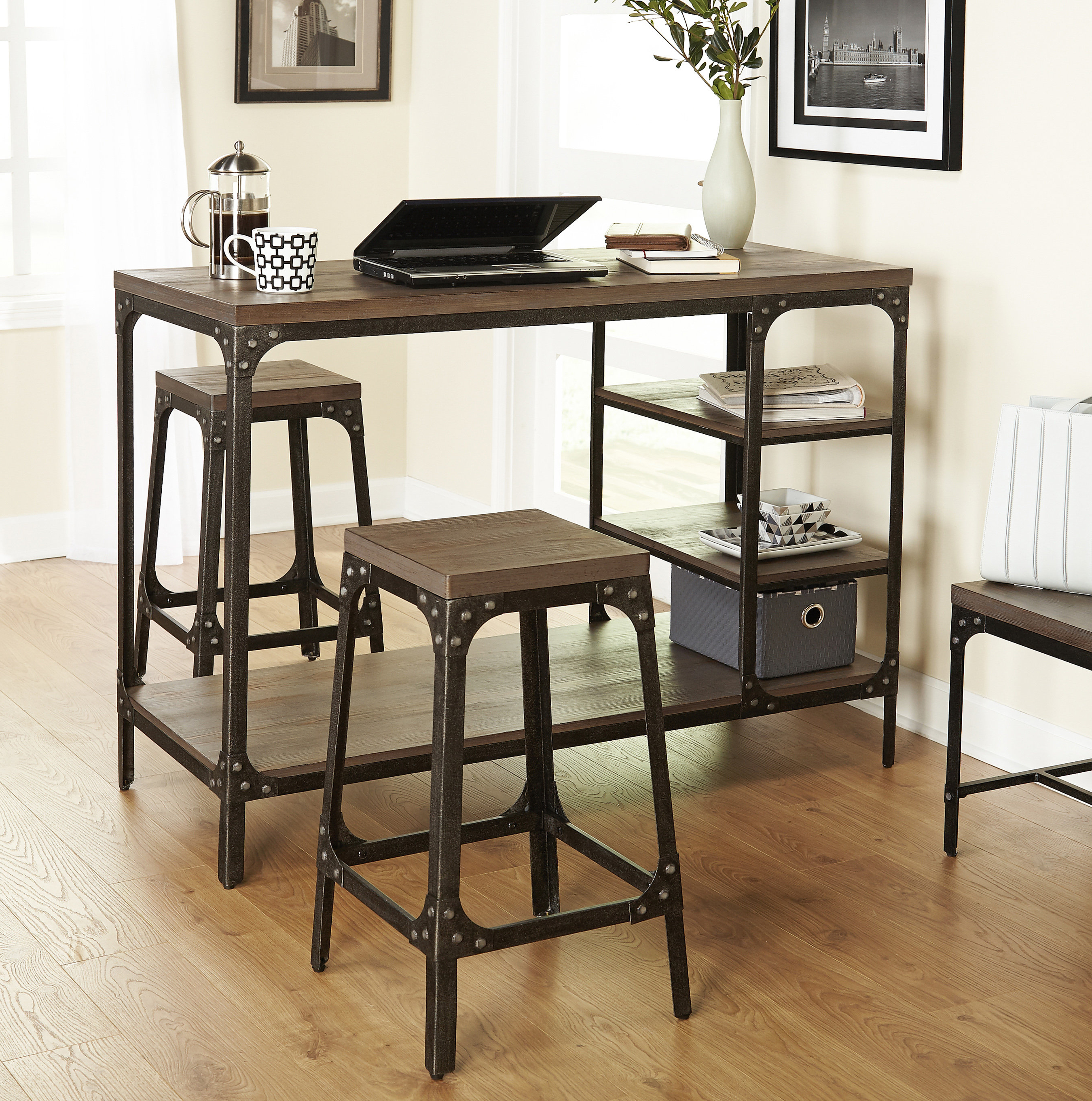Preferred 3 Piece Breakfast Dining Sets Pertaining To Terence 3 Piece Breakfast Nook Dining Set (View 19 of 20)