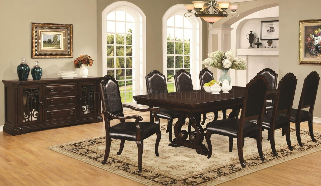 Preferred Bedfo 3 Piece Dining Sets With Regard To Bedford 105601 Dining Table In Mahoganycoaster W/options (View 16 of 20)