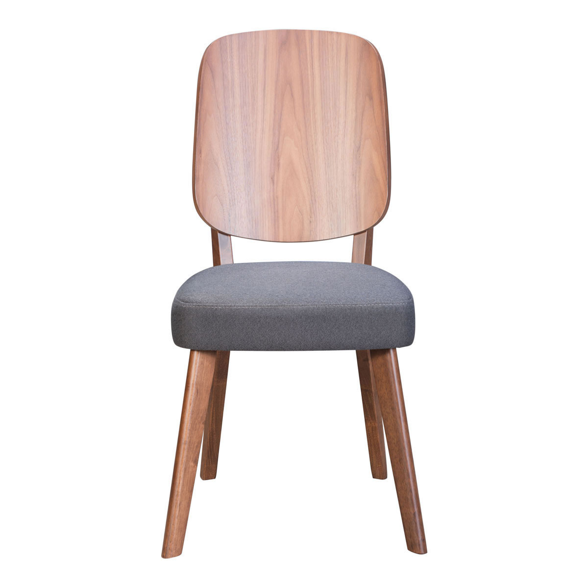 Preferred Honoria 3 Piece Dining Sets Pertaining To Alberta Dining Chair Walnut & Dark Gray (View 12 of 20)
