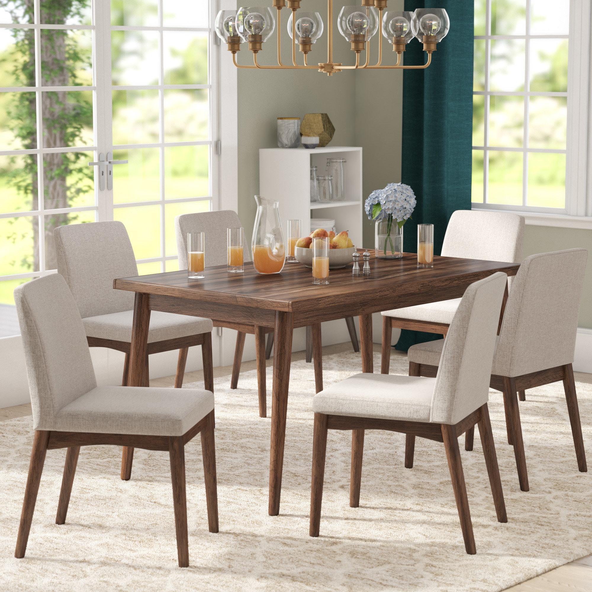Preferred Liles 5 Piece Breakfast Nook Dining Sets For Lydia 7 Piece Dining Set (View 16 of 20)