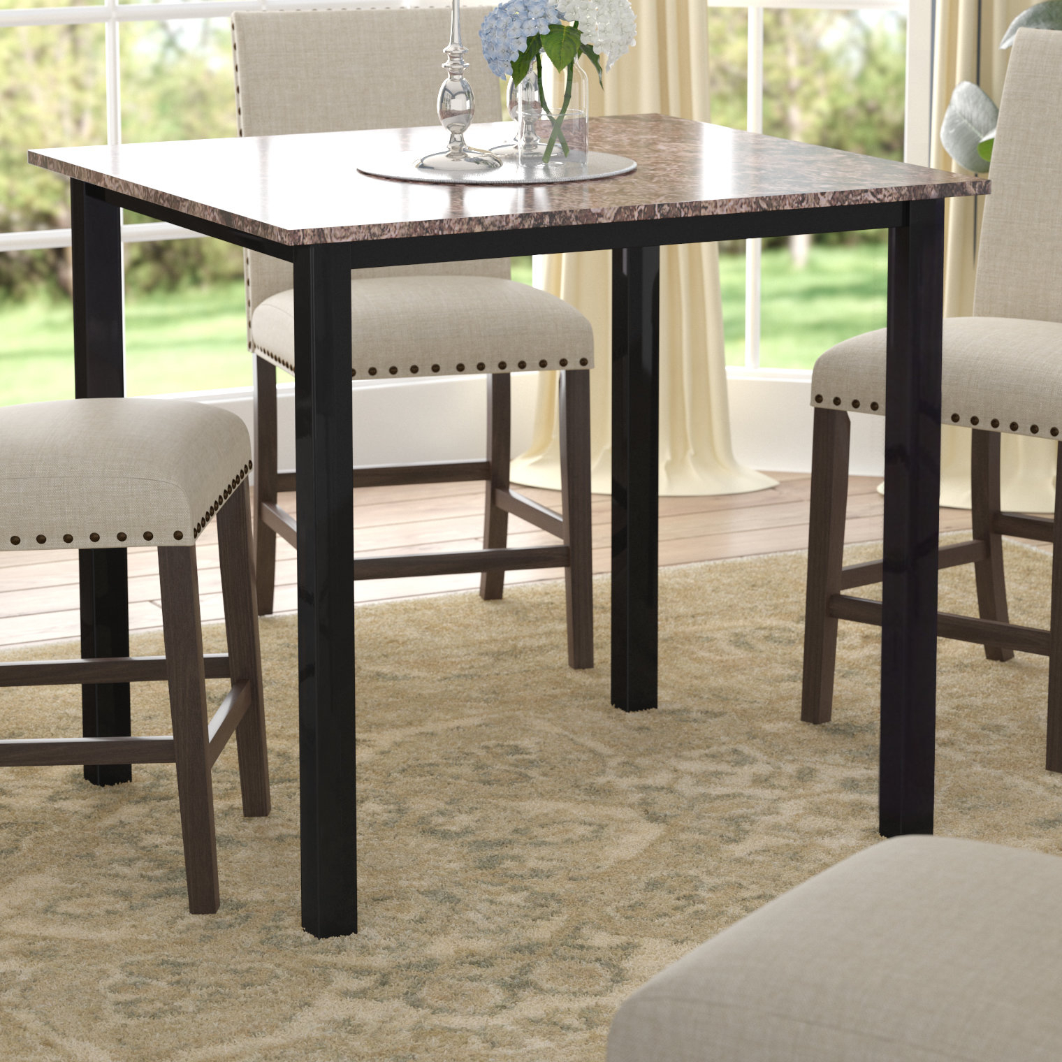 Preferred Noyes 5 Piece Dining Sets Throughout Noyes Counter Height Dining Table (View 16 of 20)