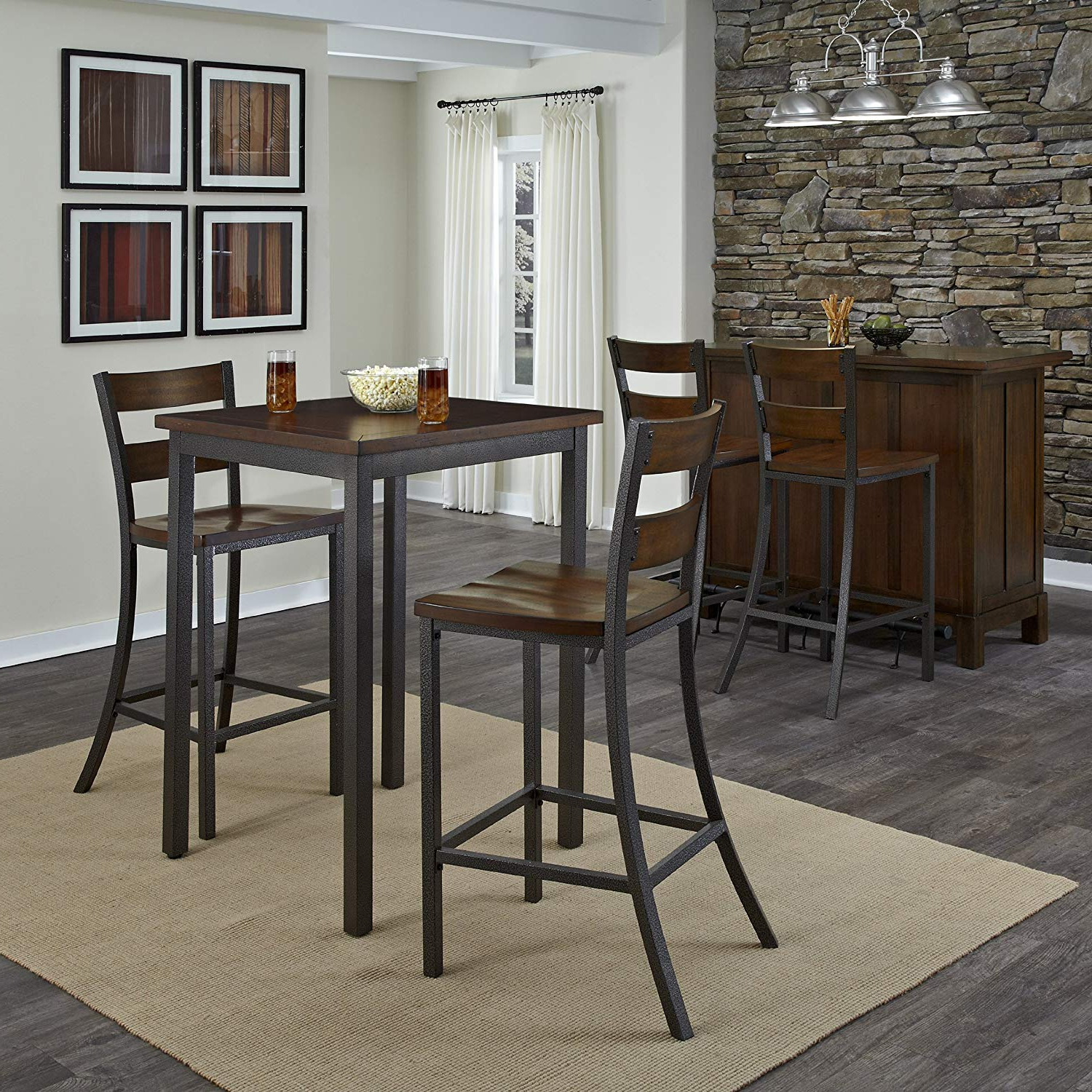 Preferred Partin 3 Piece Dining Sets Pertaining To Home Styles 5411 359 Cabin Creek 3 Piece Pub/bistro Table And Chairs Set (View 10 of 20)