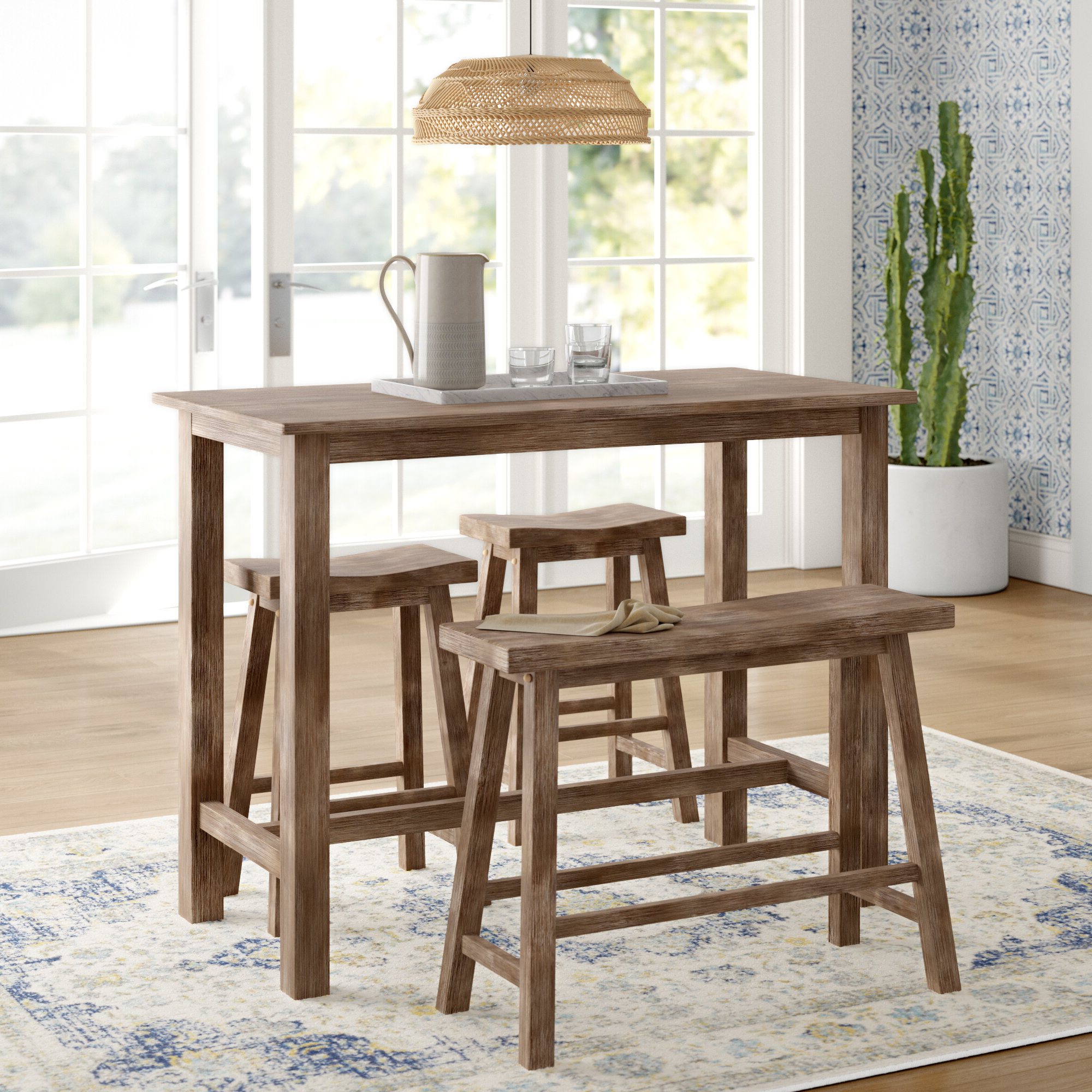 Preferred Raymundo 4 Piece Pub Table Set Pertaining To Winsted 4 Piece Counter Height Dining Sets (View 10 of 20)