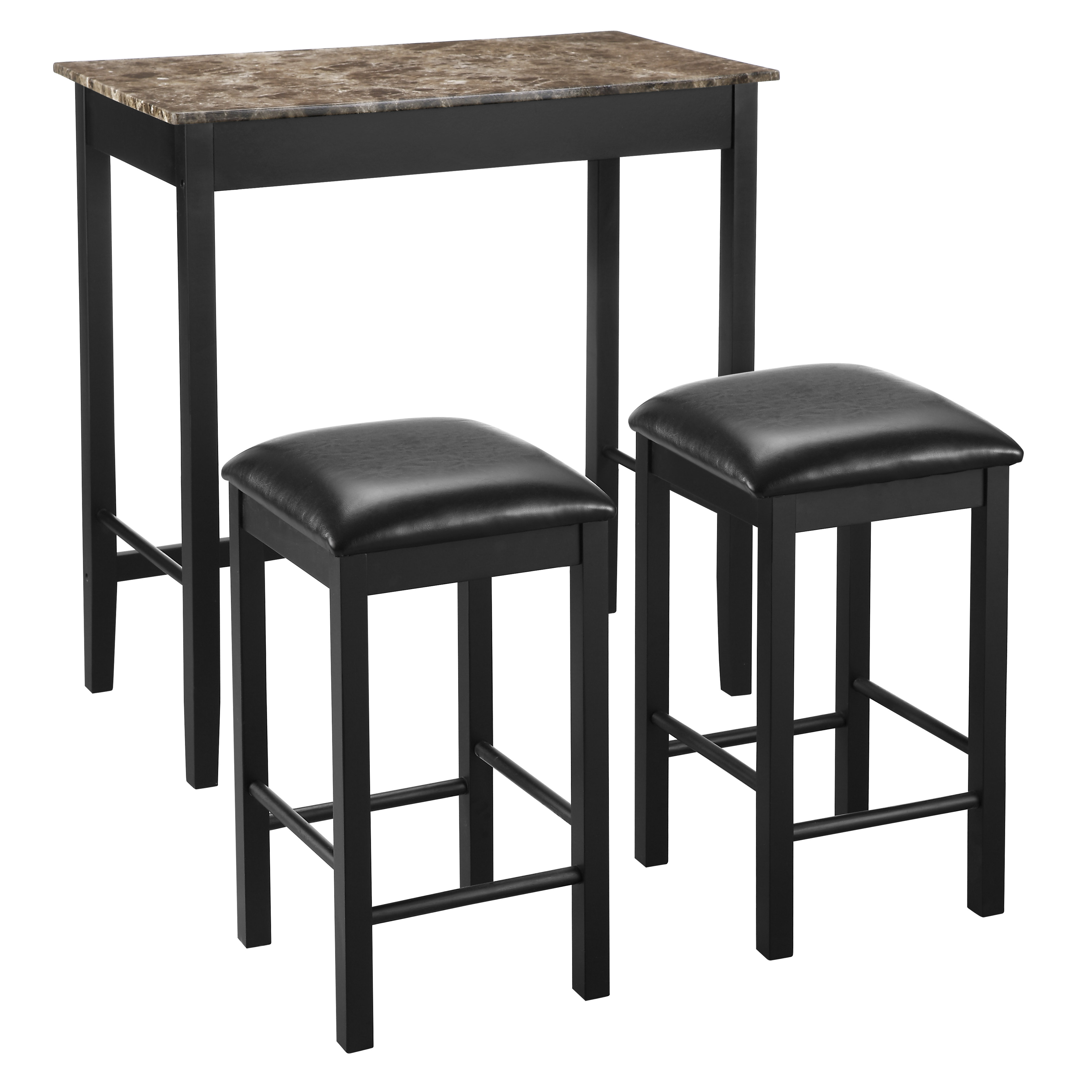 Preferred Tenney 3 Piece Counter Height Dining Sets Intended For Nutter 3 Piece Dining Set (View 12 of 20)