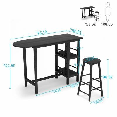 Presson 3 Piece Counter Height Dining Sets Regarding Most Popular Home & Garden – Furniture: Find Tribesigns Products Online At (View 12 of 20)