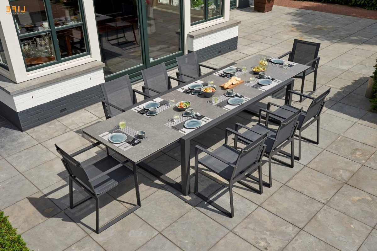 Primavera Dining Extendable Lava – Life Outdoor Living With Regard To Latest Osterman 6 Piece Extendable Dining Sets (Set Of 6) (View 16 of 20)