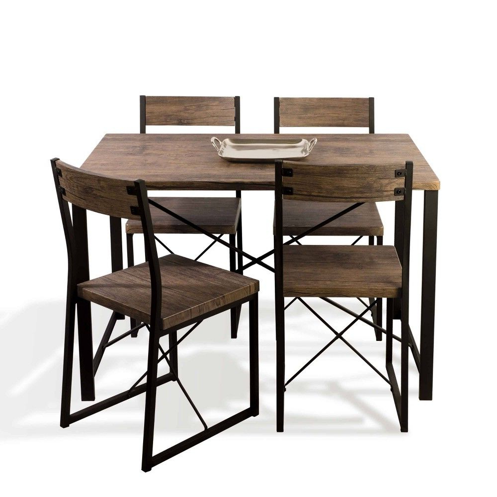 Products Throughout Recent Telauges 5 Piece Dining Sets (View 10 of 20)