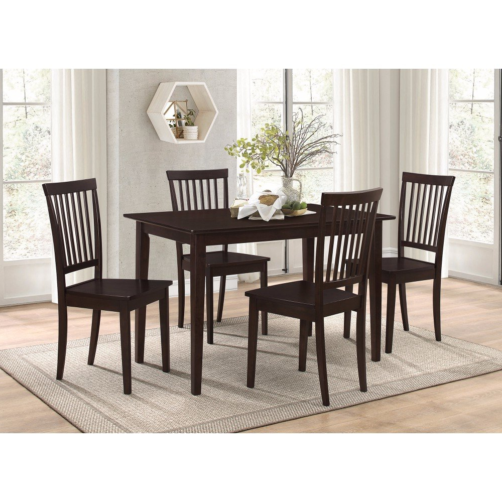 Puentes Wooden 5 Piece Dining Set Intended For Famous Pattonsburg 5 Piece Dining Sets (View 16 of 20)