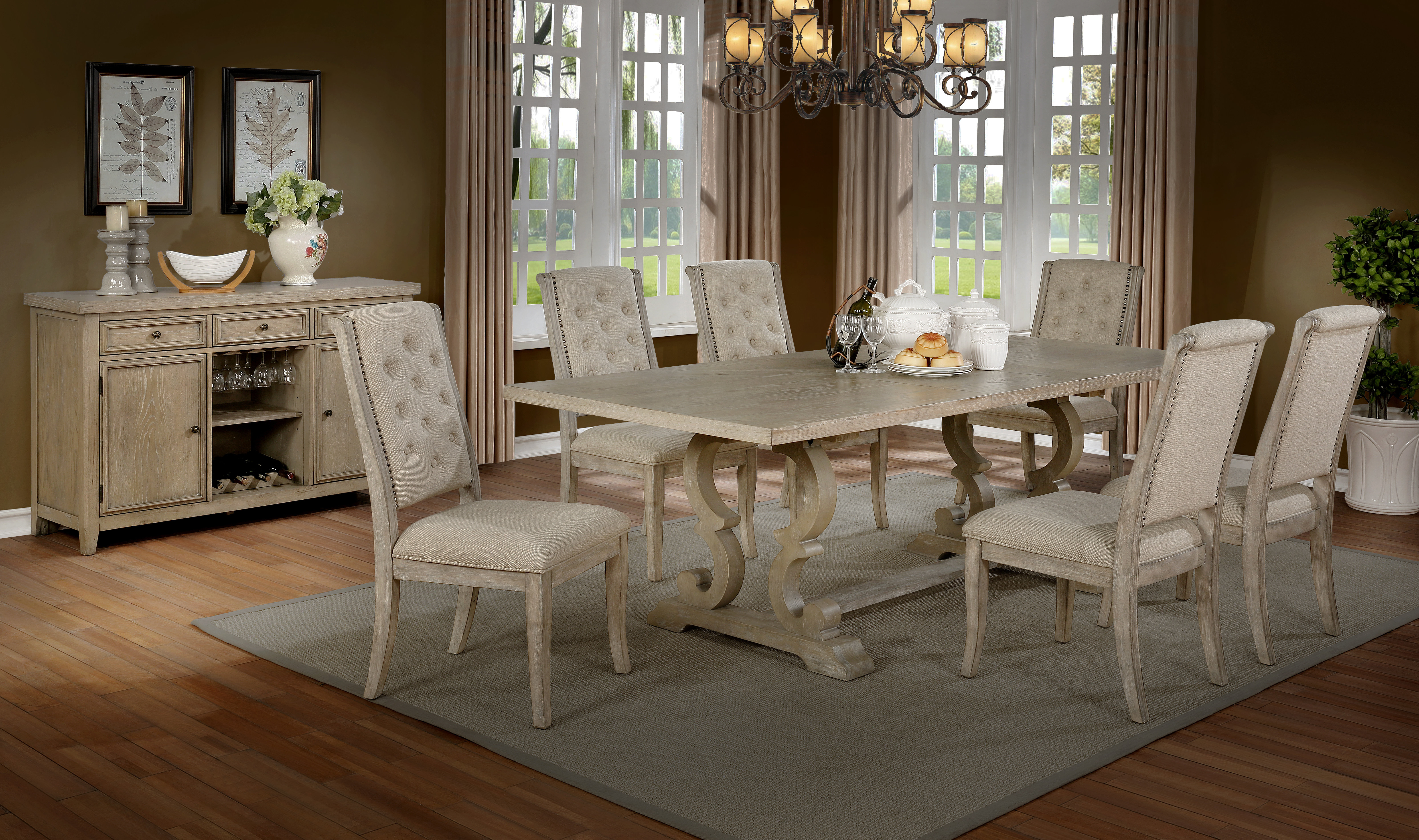 Queener 5 Piece Dining Sets For Current Zechariah 7 Piece Dining Set (View 14 of 20)