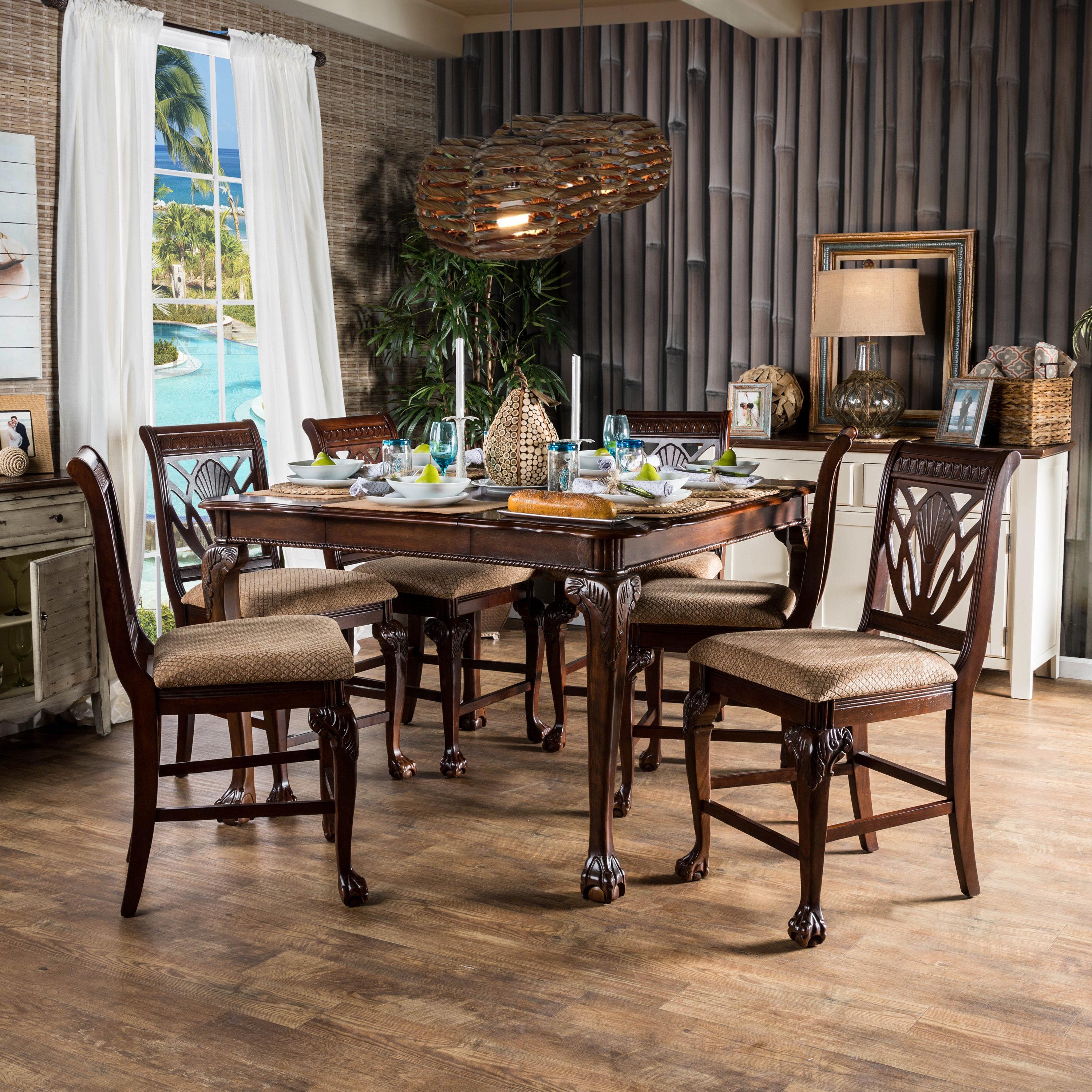 Queener 5 Piece Dining Sets With Most Up To Date Coleman 7 Piece Counter Height Pub Table Set (Gallery 19 of 20)