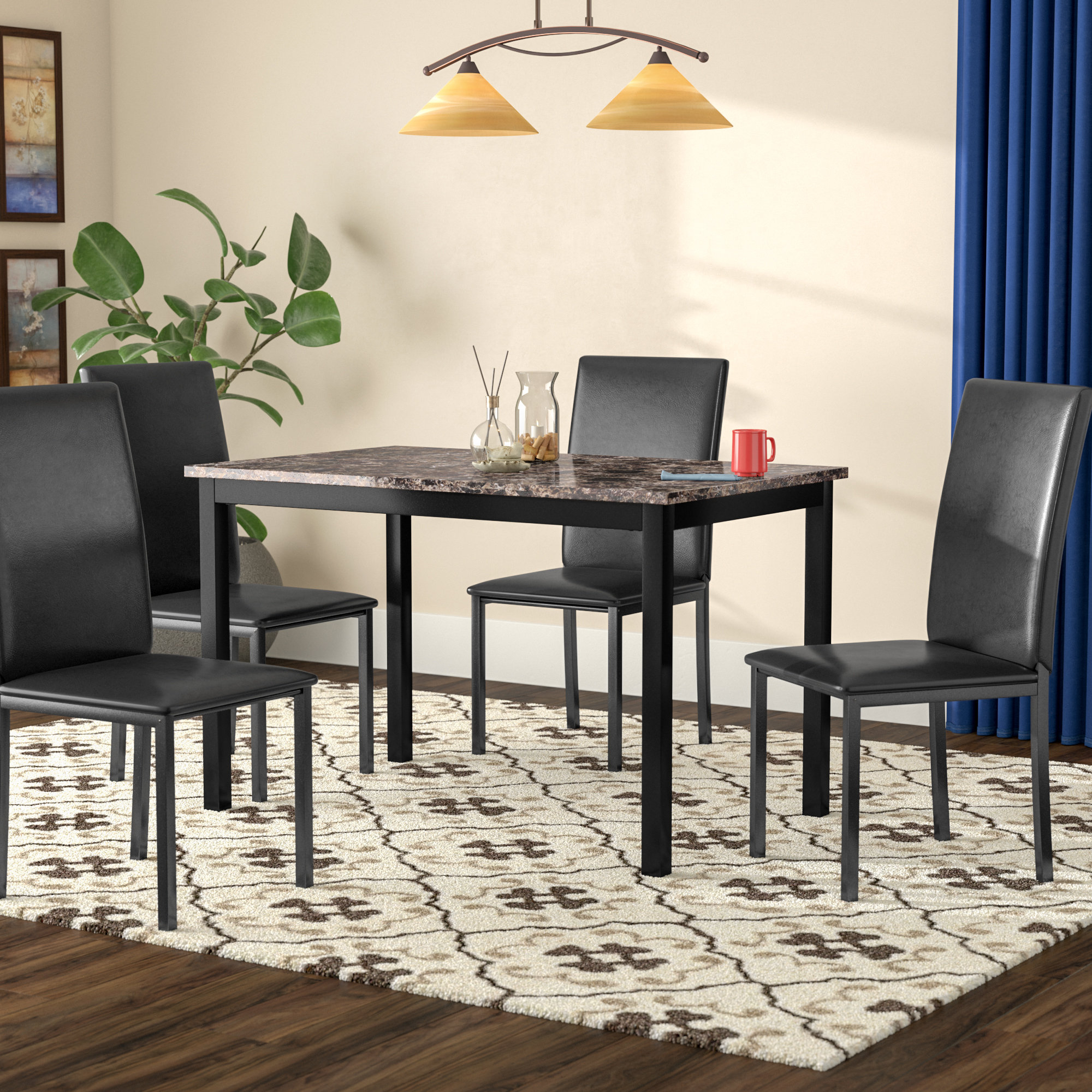 Rarick 5 Piece Solid Wood Dining Sets (Set Of 5) Intended For Popular Dining Room Sets For 12 (Gallery 11 of 20)
