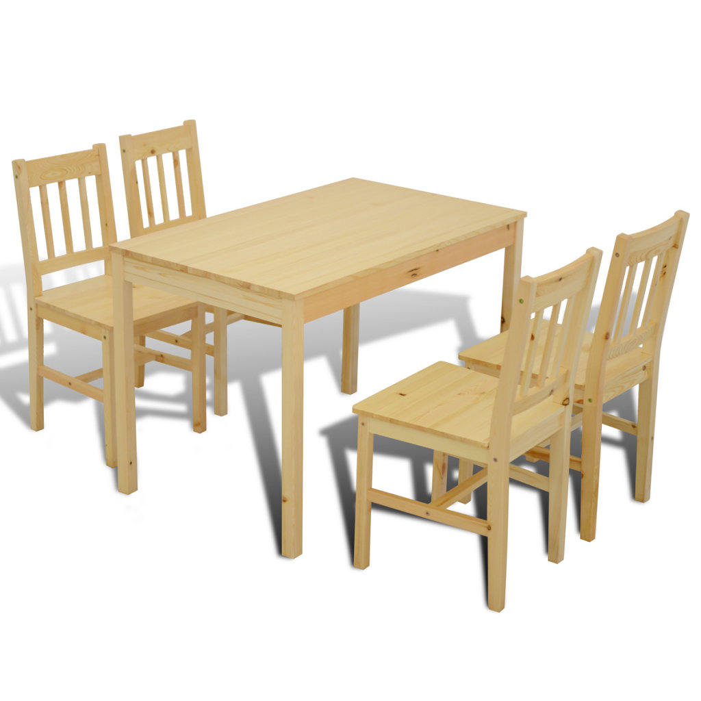 Rarick 5 Piece Solid Wood Dining Sets (Set Of 5) Pertaining To Current 5 Piece Dining Set (View 12 of 20)