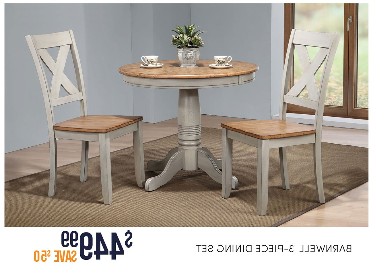 Rc Throughout Trendy Ligon 3 Piece Breakfast Nook Dining Sets (View 17 of 20)