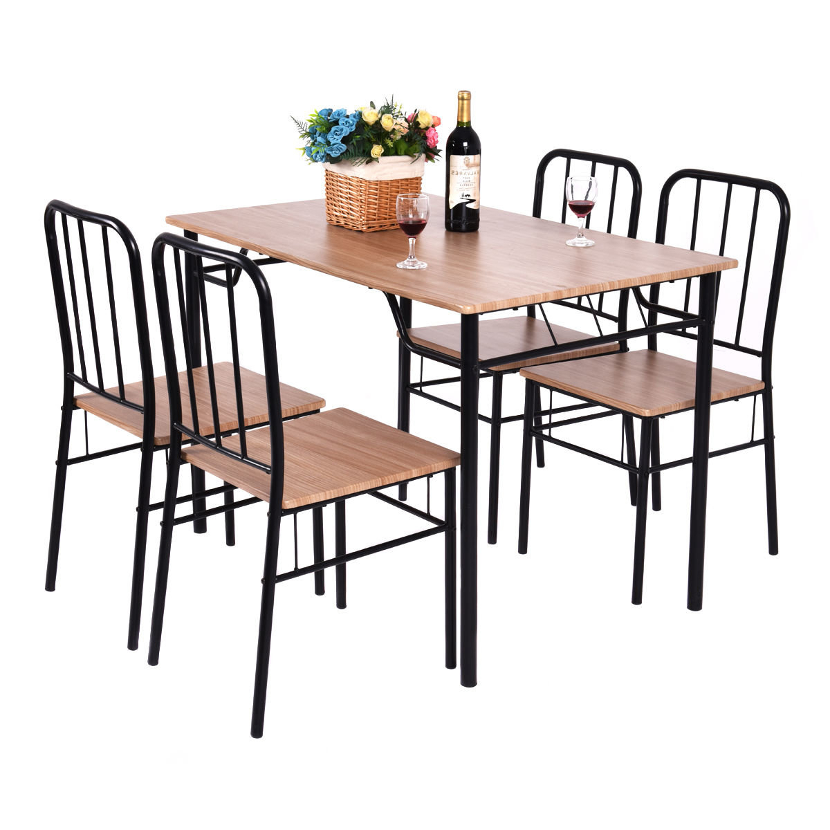 Recent Casiano 5 Piece Dining Sets With Regard To Conover 5 Piece Dining Set (Gallery 2 of 20)