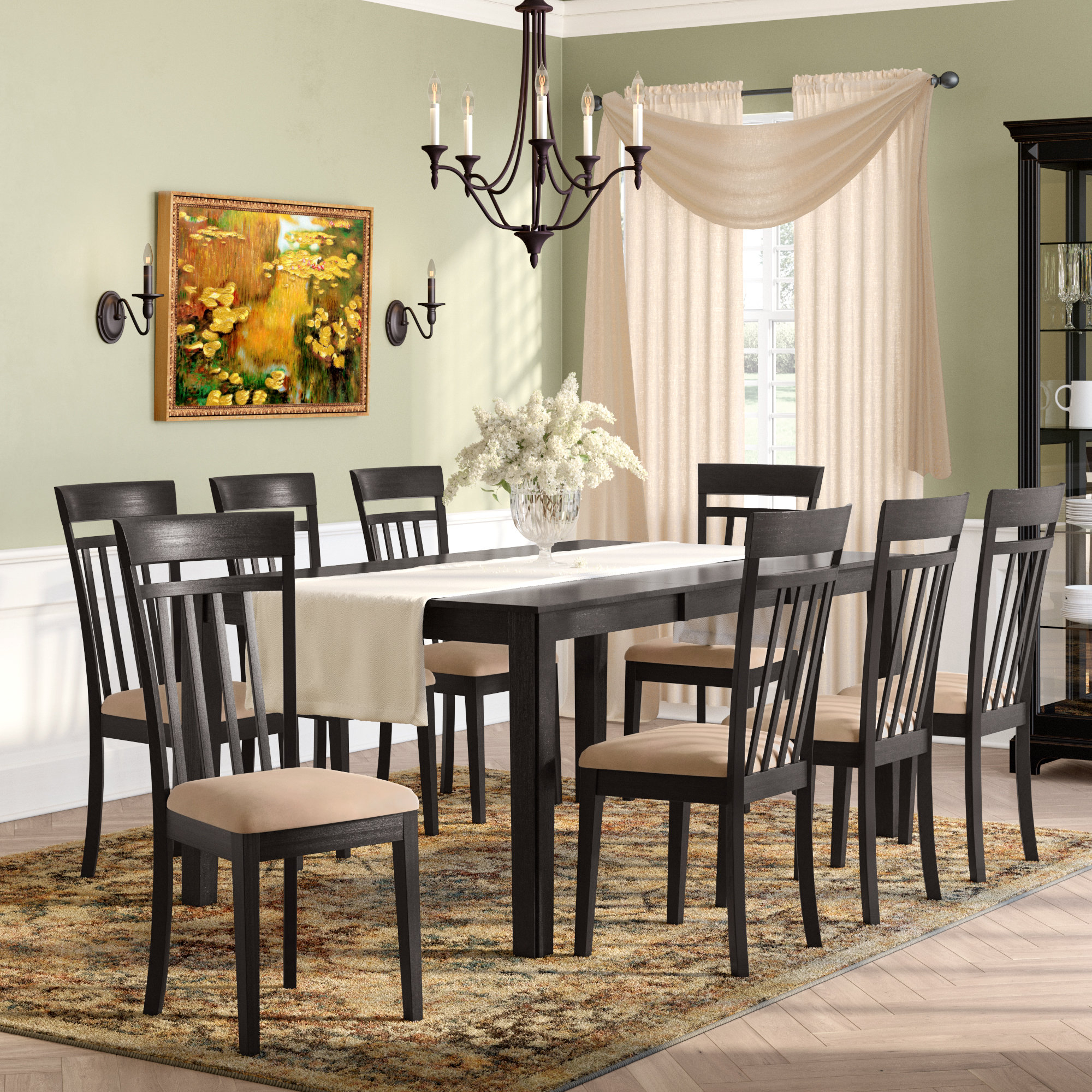 Recent Smyrna 3 Piece Dining Sets Within Smyrna 9 Piece Dining Set (View 2 of 20)