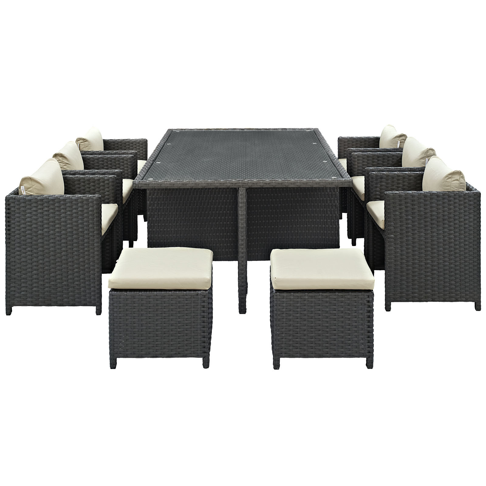 Recent Tripp 11 Piece Dining Set With Cushion Pertaining To Giles 3 Piece Dining Sets (View 14 of 20)
