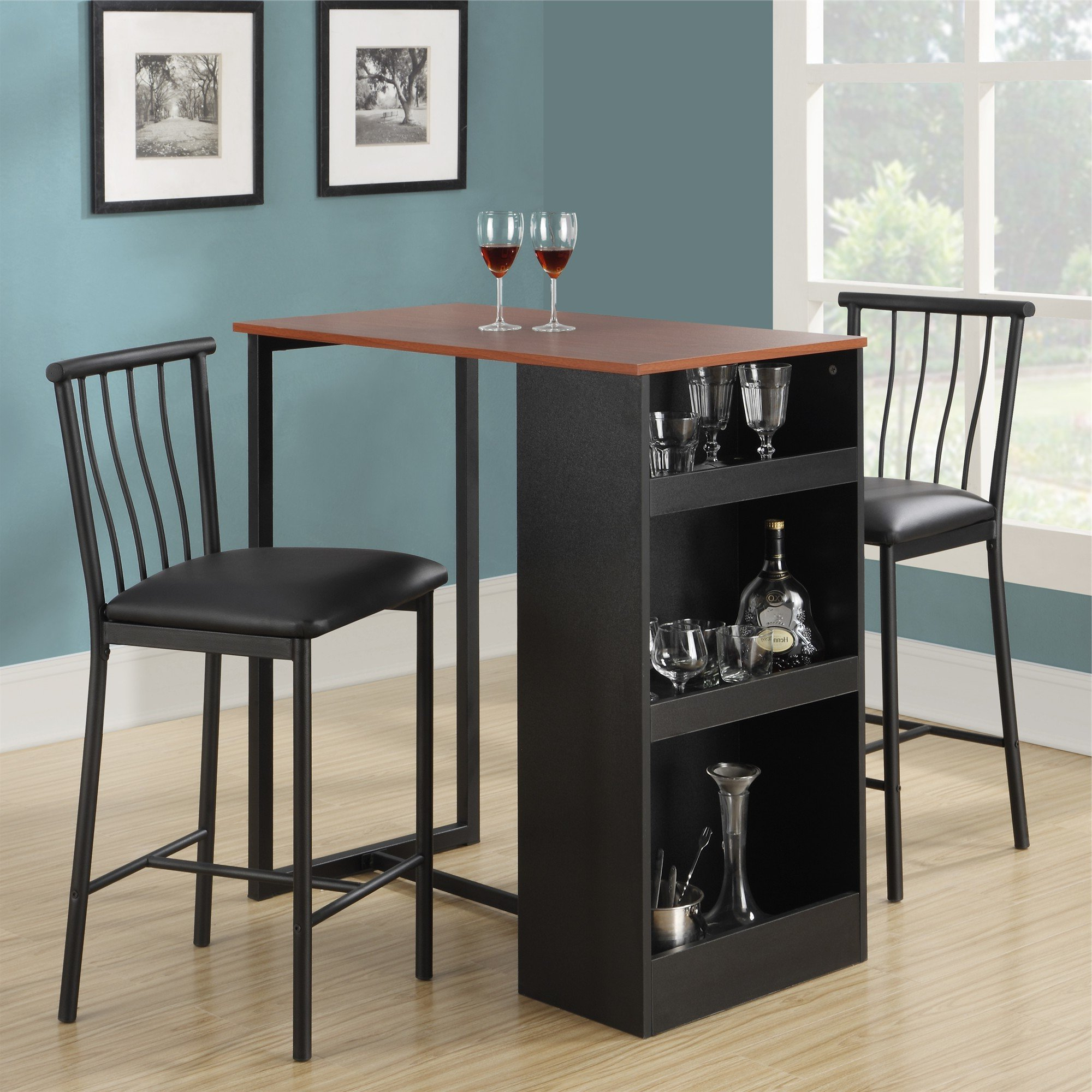 Red Barrel Studio Francis 3 Piece Counter Height Pub Table Set Throughout Best And Newest Tenney 3 Piece Counter Height Dining Sets (Gallery 15 of 20)