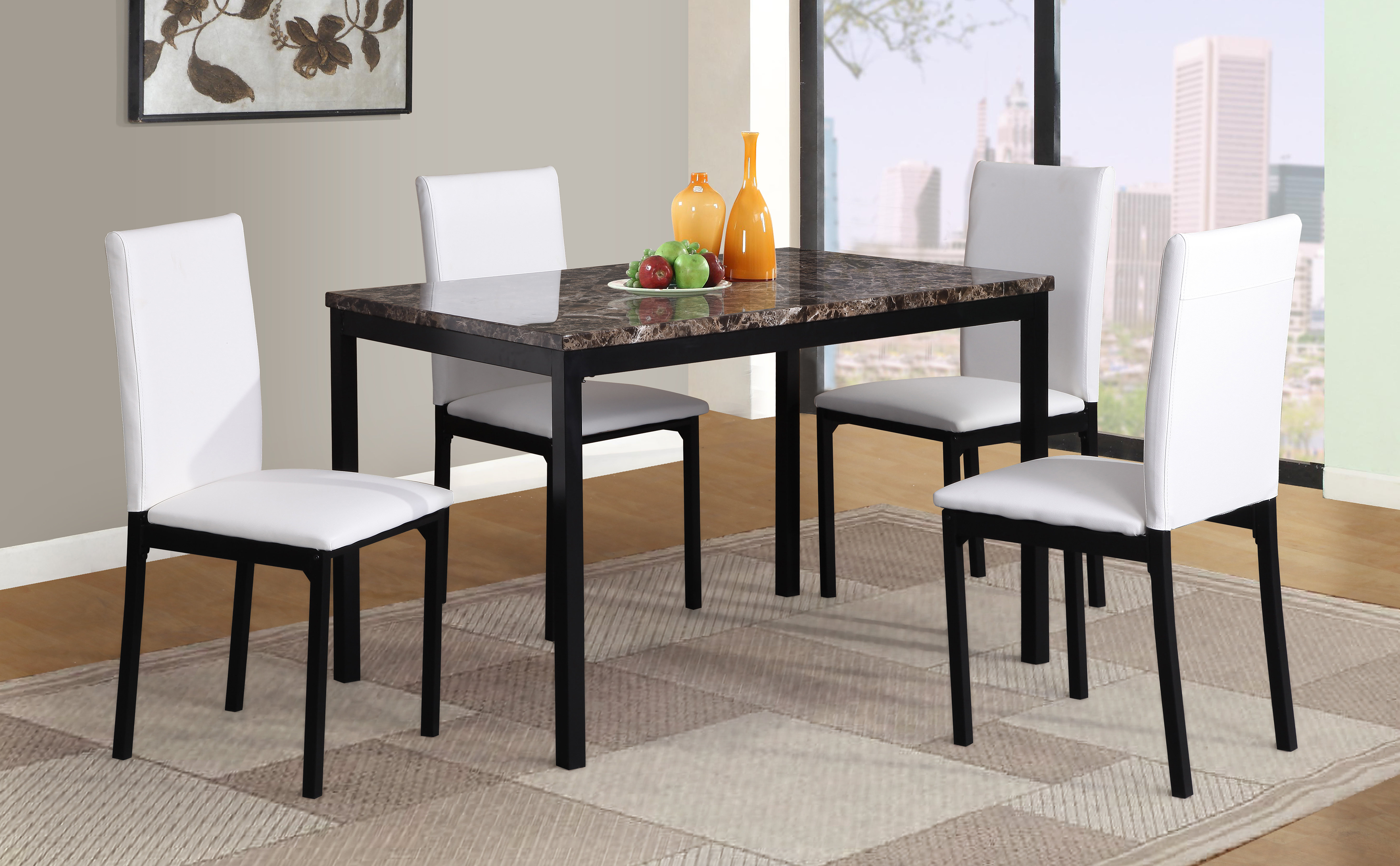 Red Barrel Studio Noyes 5 Piece Dining Set In Widely Used Noyes 5 Piece Dining Sets (Gallery 3 of 20)