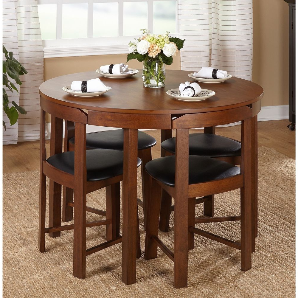 Rossi 5 Piece Dining Sets Regarding Best And Newest Round Dining Table Set Small Spaces 5 Pc Kitchen Furniture Dorm Room (View 5 of 20)