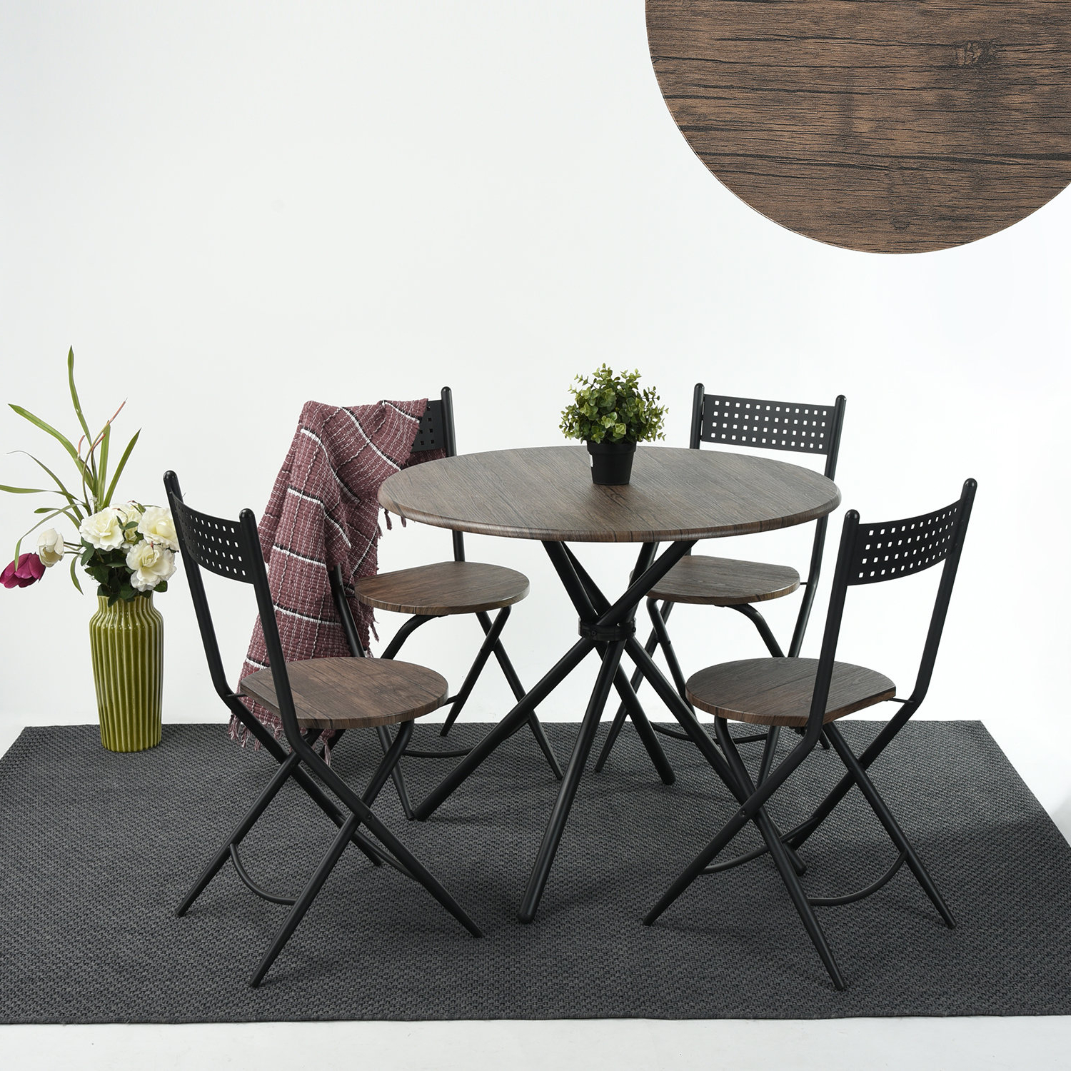 Rossi 5 Piece Dining Sets With Regard To Most Recently Released Wrought Studio Burdett 5 Piece Dining Set (View 4 of 20)