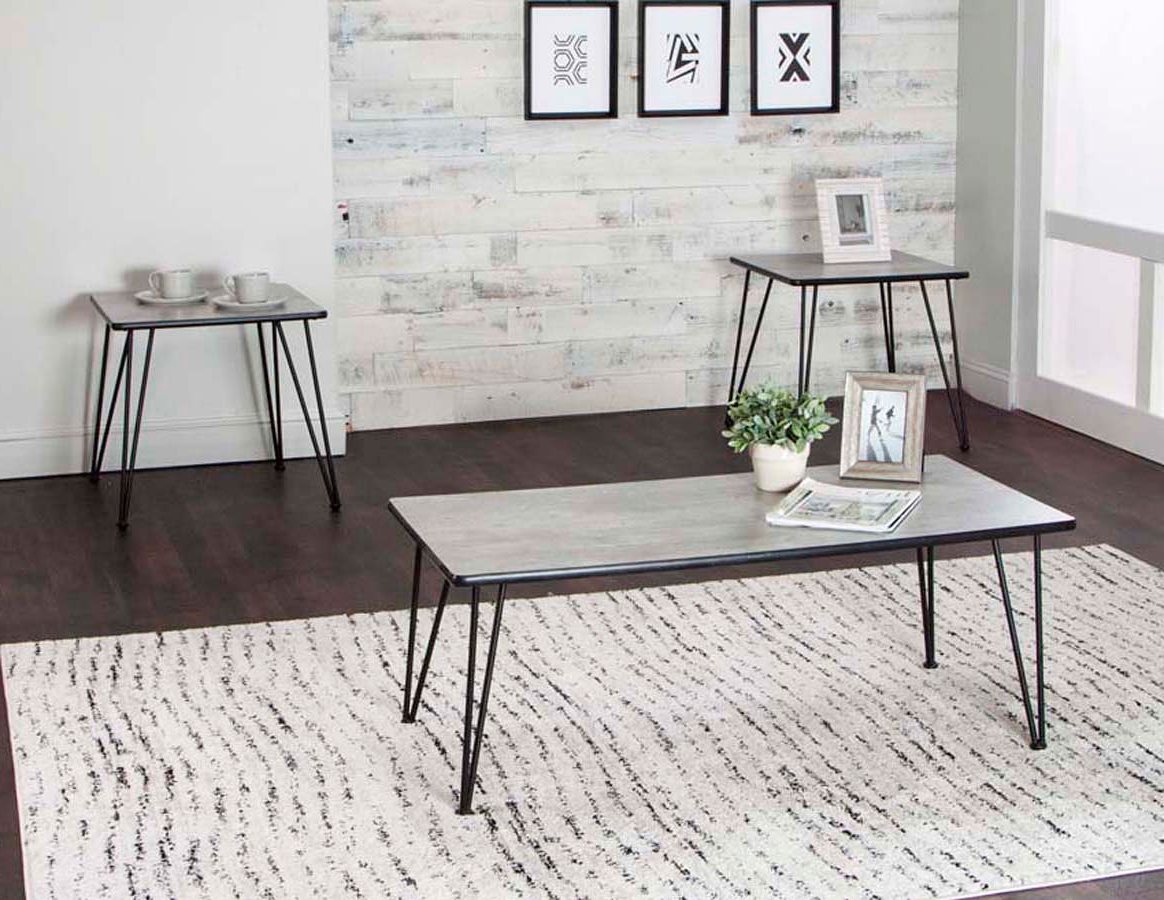 Ryker 3 Piece Concrete Laminate Occasional Table Set Within Latest Ryker 3 Piece Dining Sets (View 8 of 20)