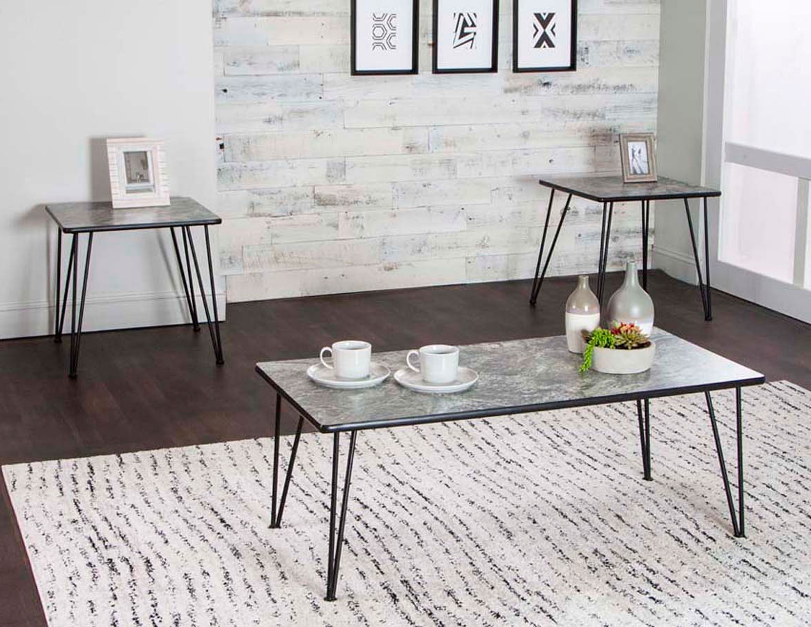 Ryker 3 Piece Dining Sets Intended For Most Popular Ryker 3 Piece Magna Laminate Occasional Table Set (View 11 of 20)