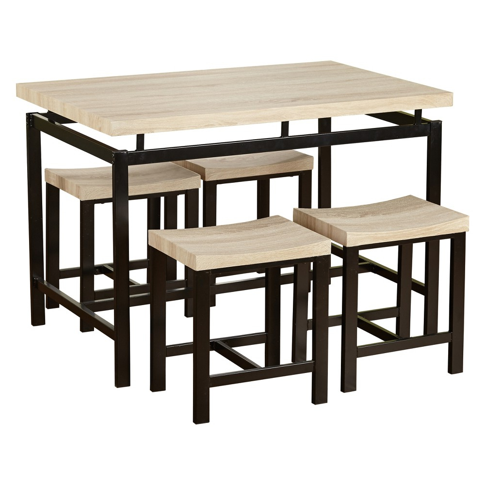 Ryker 3 Piece Dining Sets Intended For Most Up To Date 5Pc Liberty Dining Set – Natural – Buylateral In  (View 12 of 20)