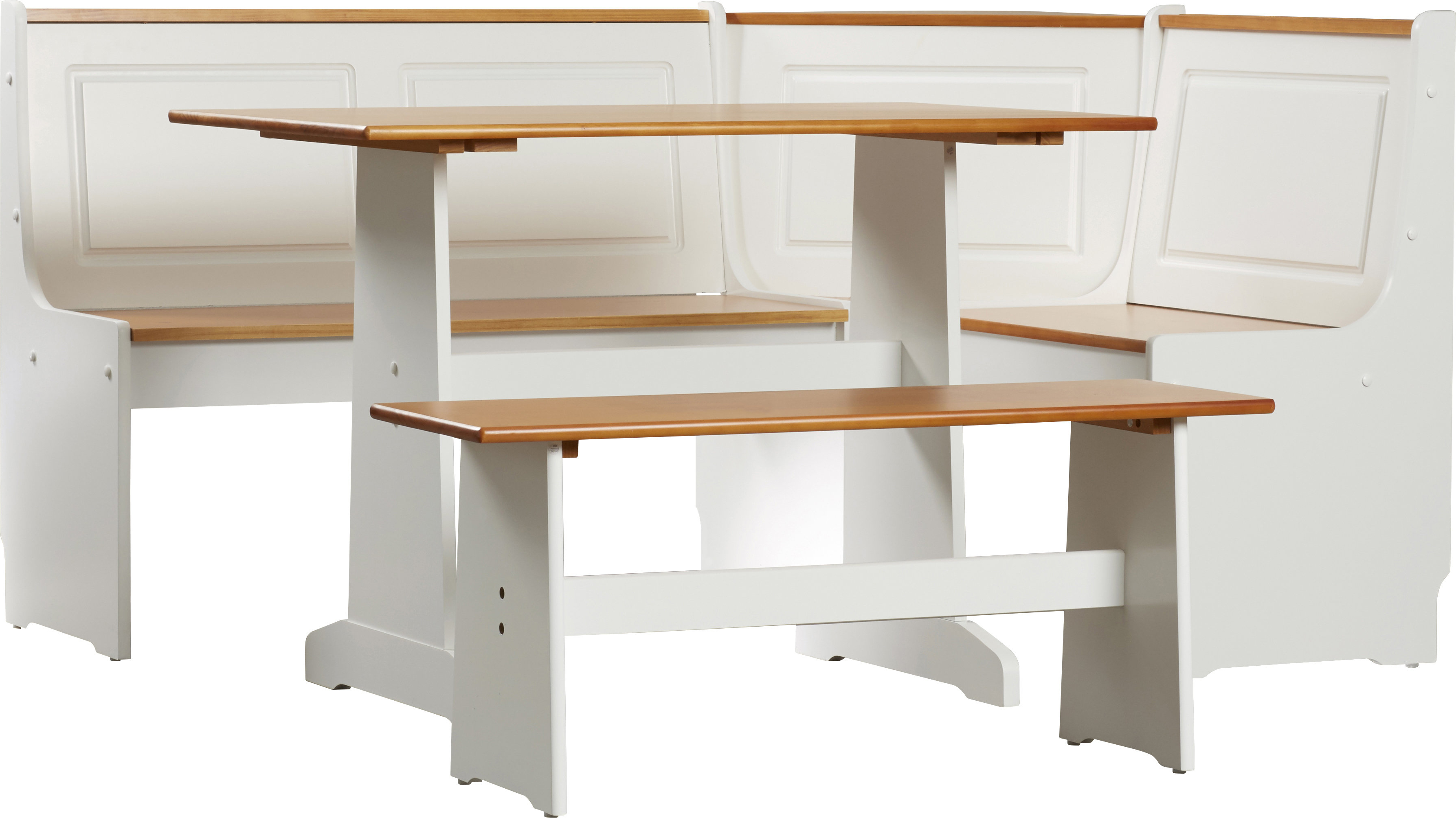 Ryker 3 Piece Dining Sets Pertaining To Latest Birtie 3 Piece Solid Wood Breakfast Nook Dining Set (View 13 of 20)