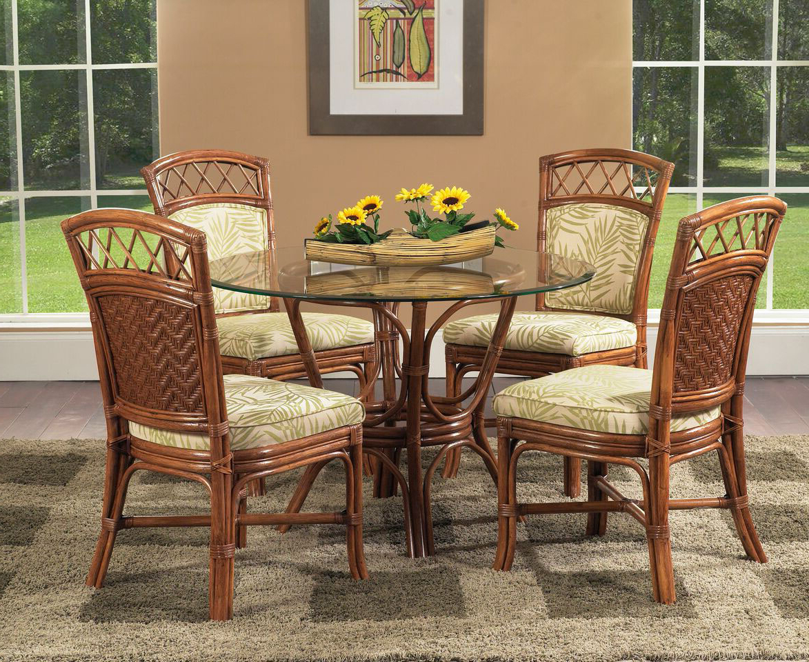 Saint Croix 6 Piece Dining Set With 4 Side Chairs From Classic Rattan Model 1460 Set Regarding 2018 Saintcroix 3 Piece Dining Sets (View 5 of 20)