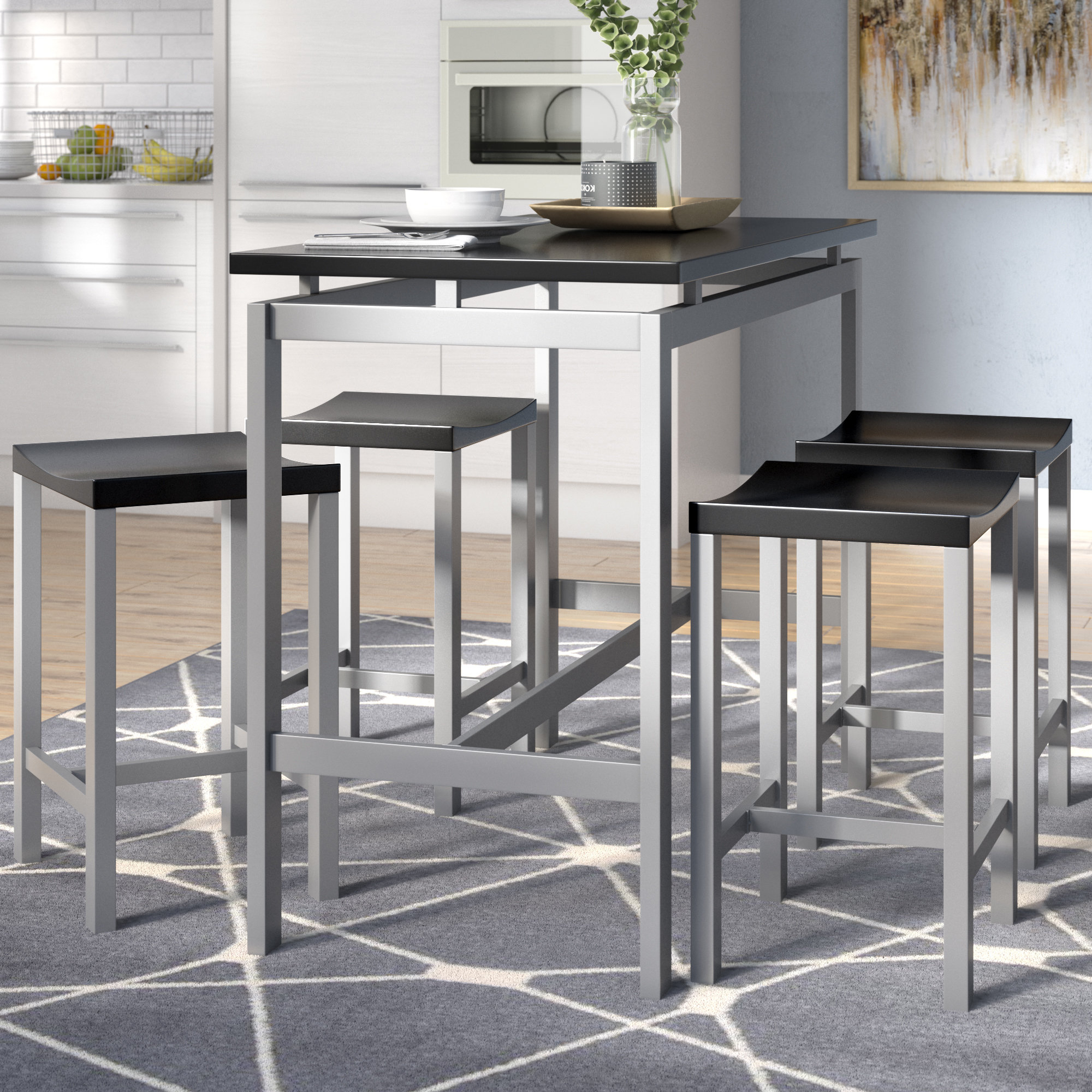 Saintcroix 3 Piece Dining Sets Regarding Widely Used Mcgonigal 5 Piece Pub Table Set (View 15 of 20)