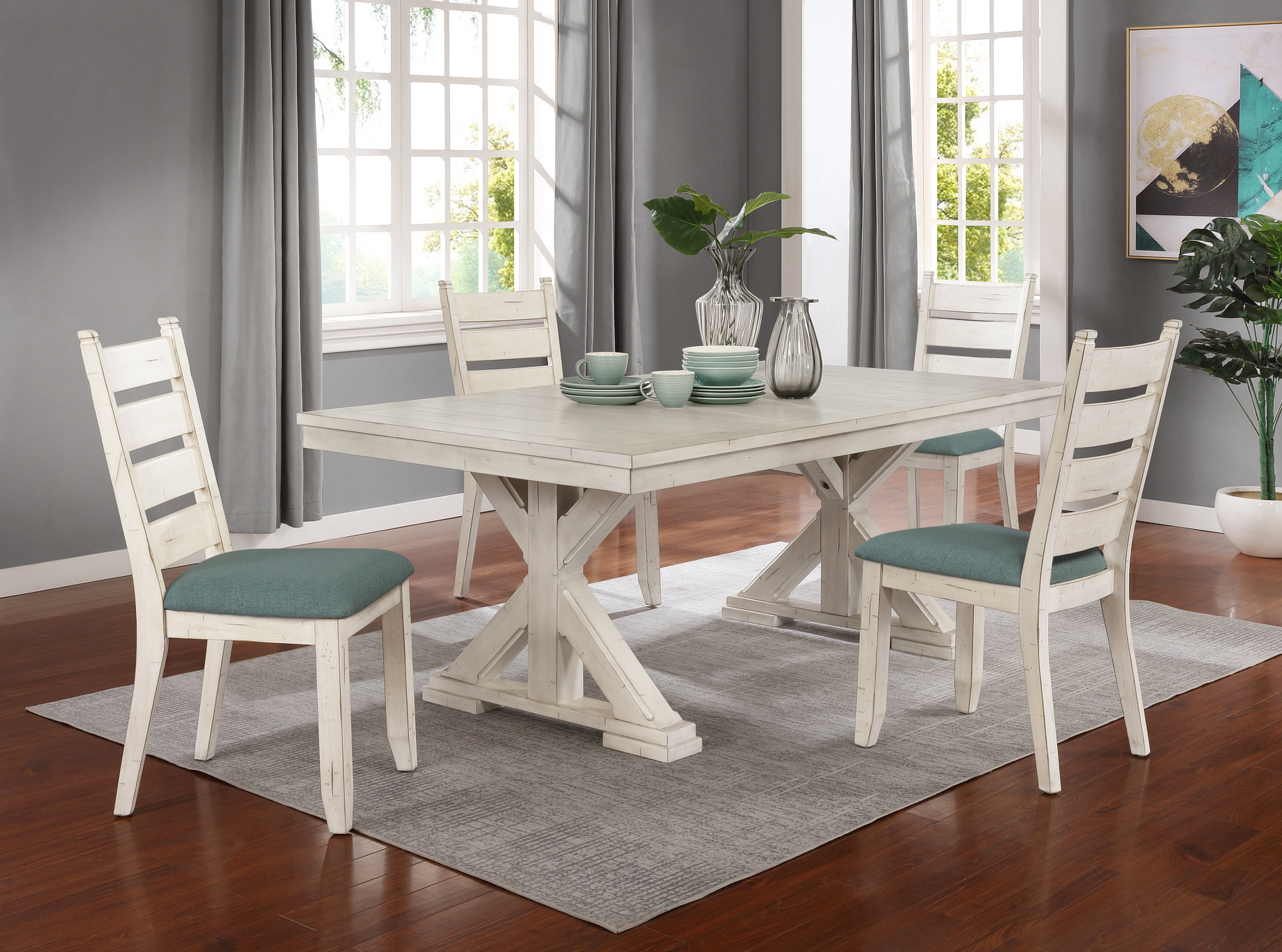 Scarborough 5 Piece Dining Set Inside 2017 Middleport 5 Piece Dining Sets (View 12 of 20)