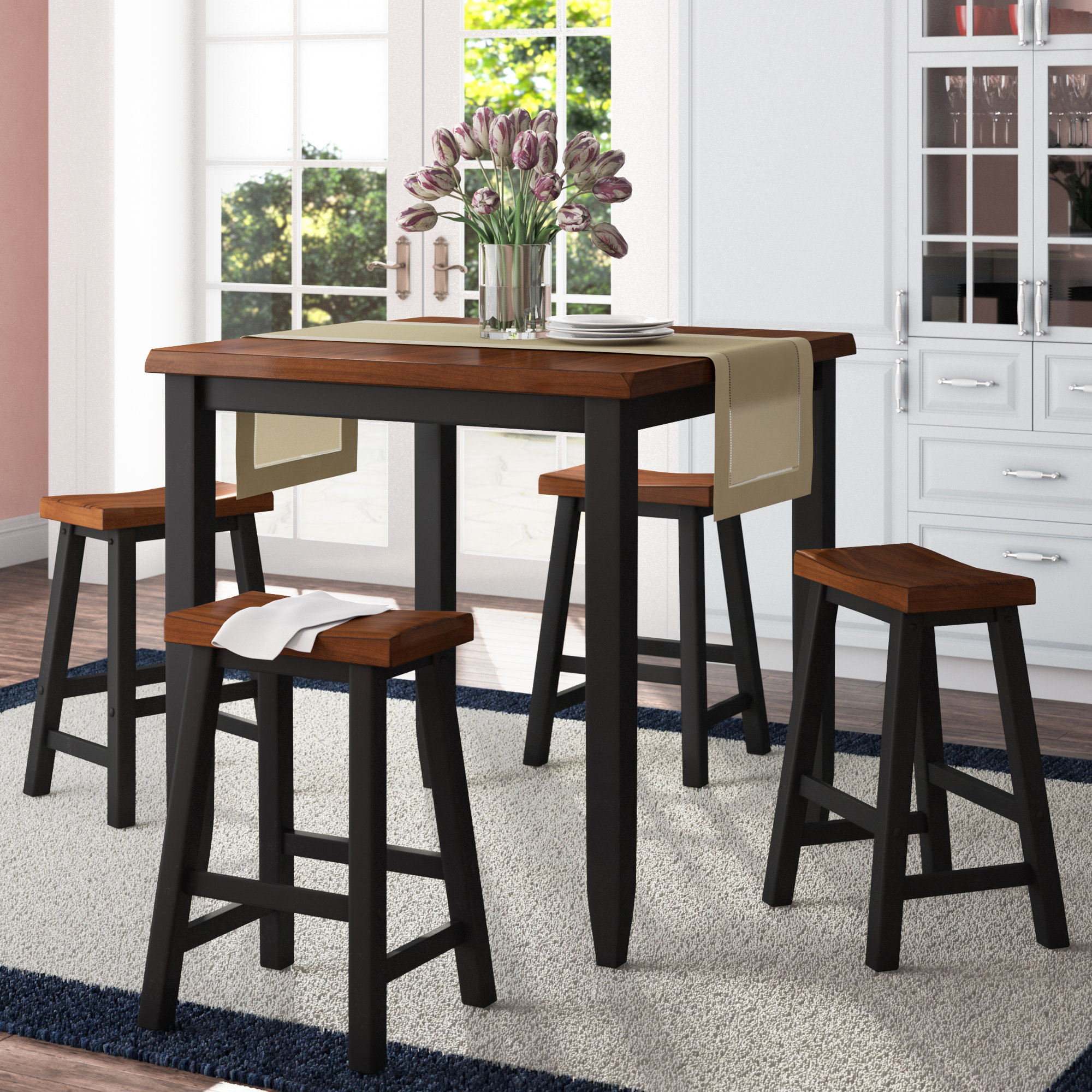 Simmons Casegoods Ruggerio 5 Piece Counter Height Pub Table Set Pertaining To Famous Winsted 4 Piece Counter Height Dining Sets (View 7 of 20)