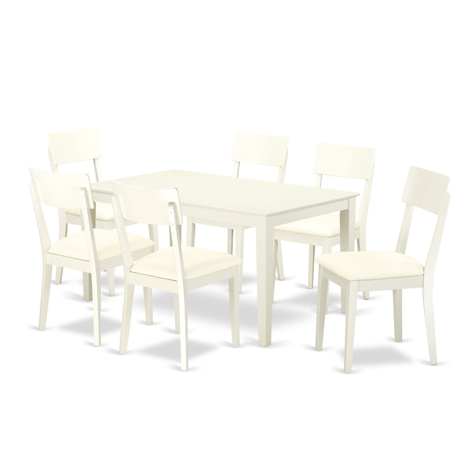 Smyrna 3 Piece Dining Sets For Well Known East West Furniture Capri Caad7 Seven Piece Dining Table Set (View 15 of 20)