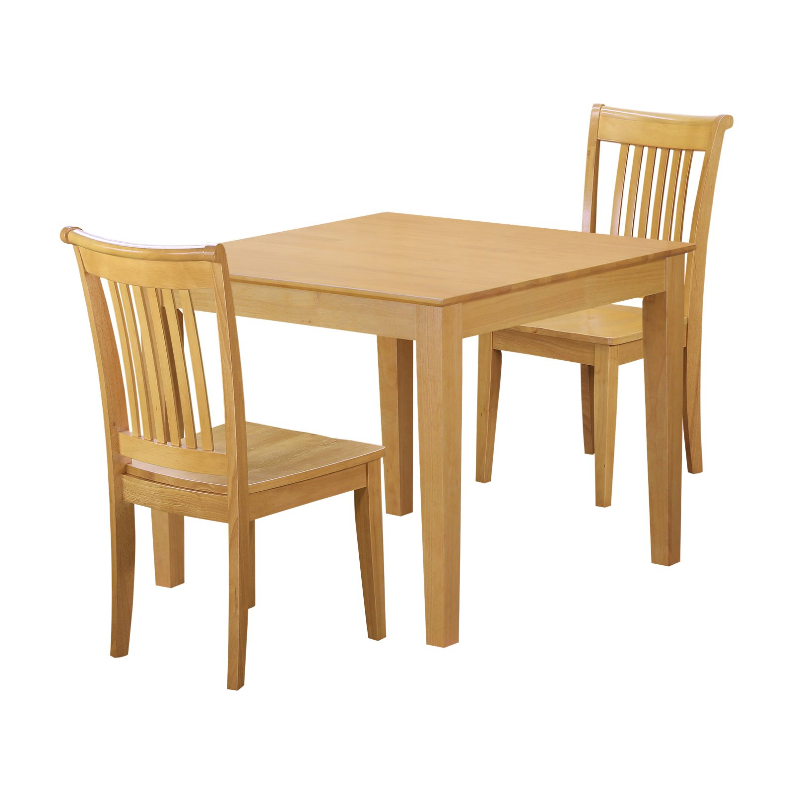 Smyrna 3 Piece Dining Sets Pertaining To Preferred East West Furniture Oxford 3 Piece Square Dining Table Set – Oak (View 13 of 20)