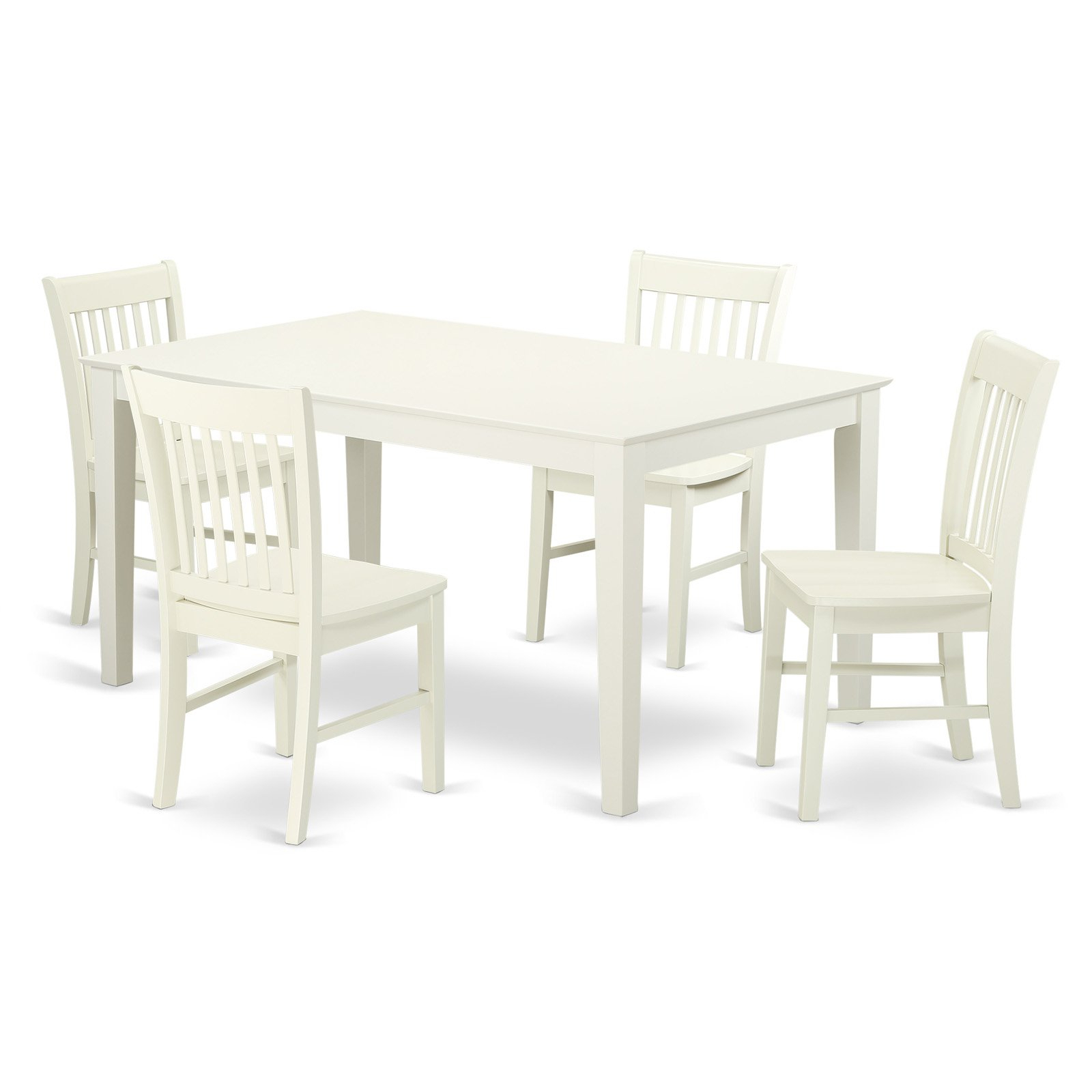 Smyrna 3 Piece Dining Sets Regarding Most Recently Released East West Furniture Capri Cano5 Five Piece Dining Table Set In  (View 14 of 20)