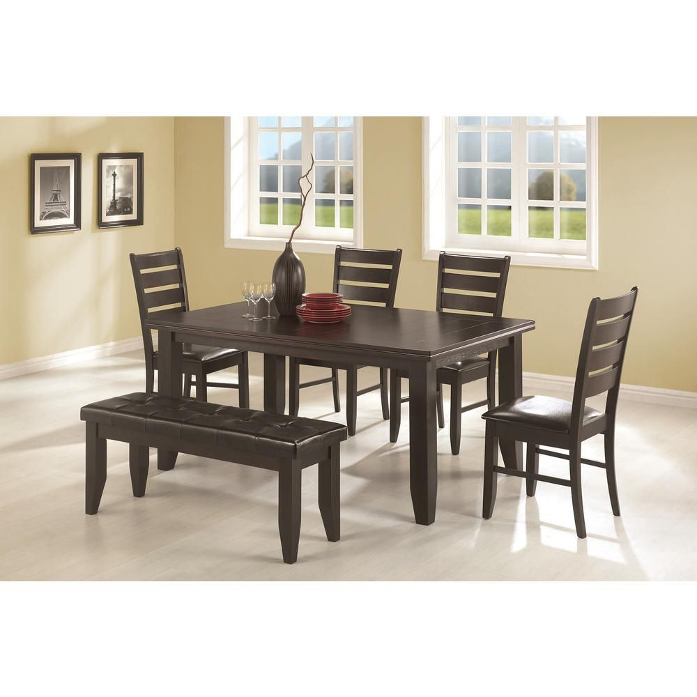 Smyrna 3 Piece Dining Sets Within Most Popular Coaster Dalila Collection Cappuccino Dining Chair (Set Of  (View 17 of 20)