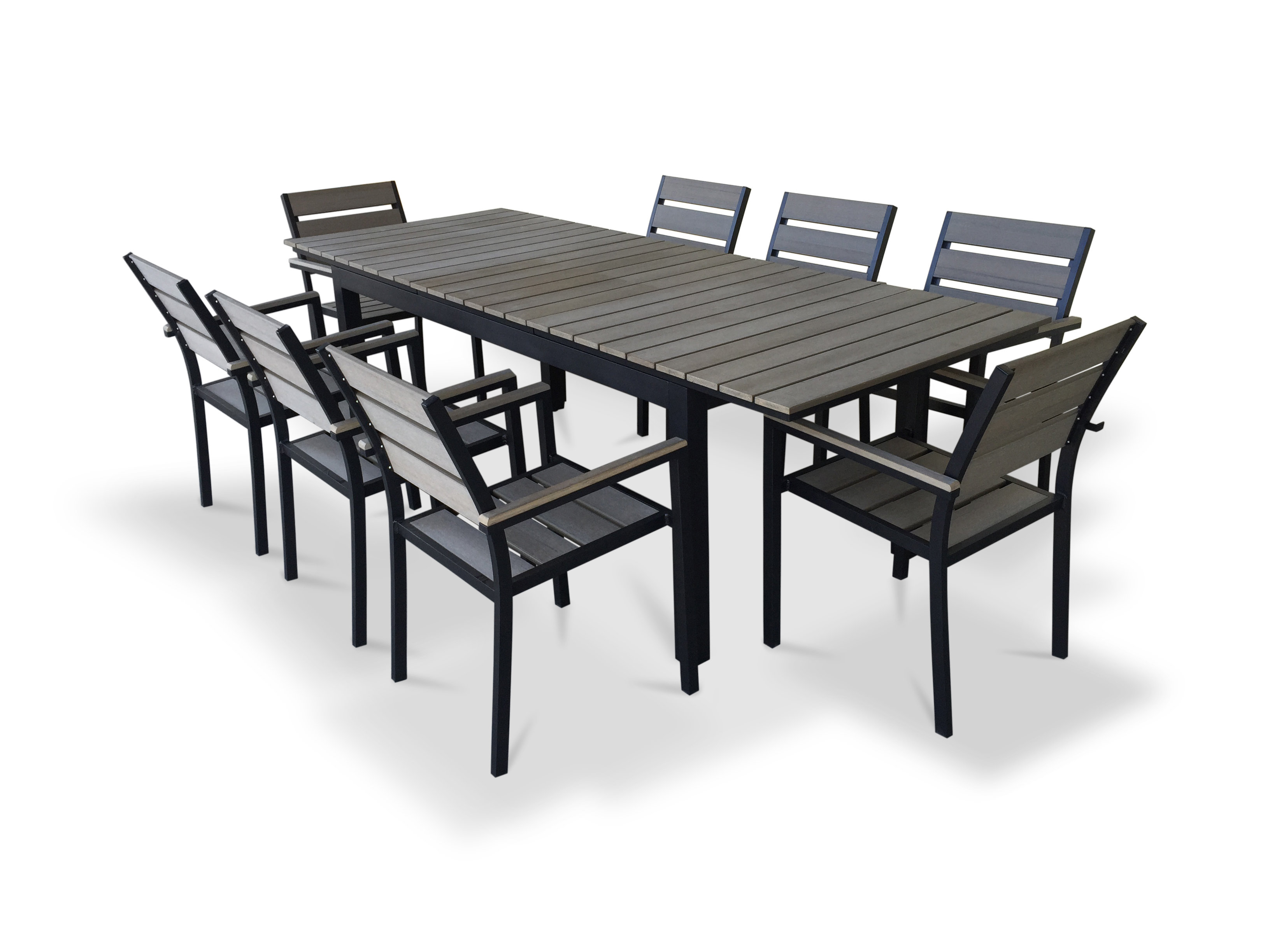 Springfield 3 Piece Dining Sets Intended For Preferred 9 Piece Extendable Outdoor Dining Set (View 14 of 20)