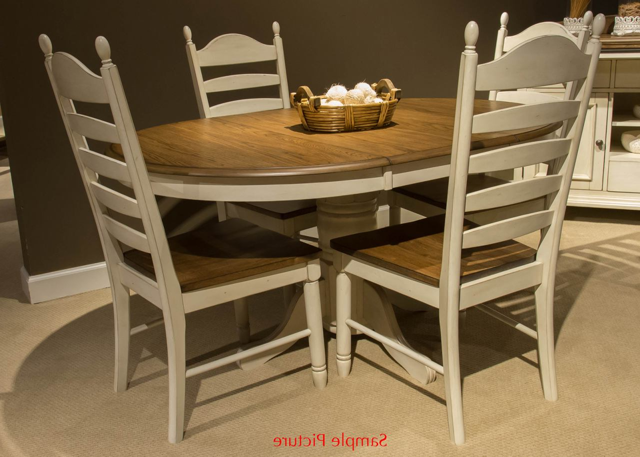 Springfield 3 Piece Dining Sets Within Current Liberty Furniture Springfield 7pc Pedestal Dining Set In Honey And Cream (View 8 of 20)