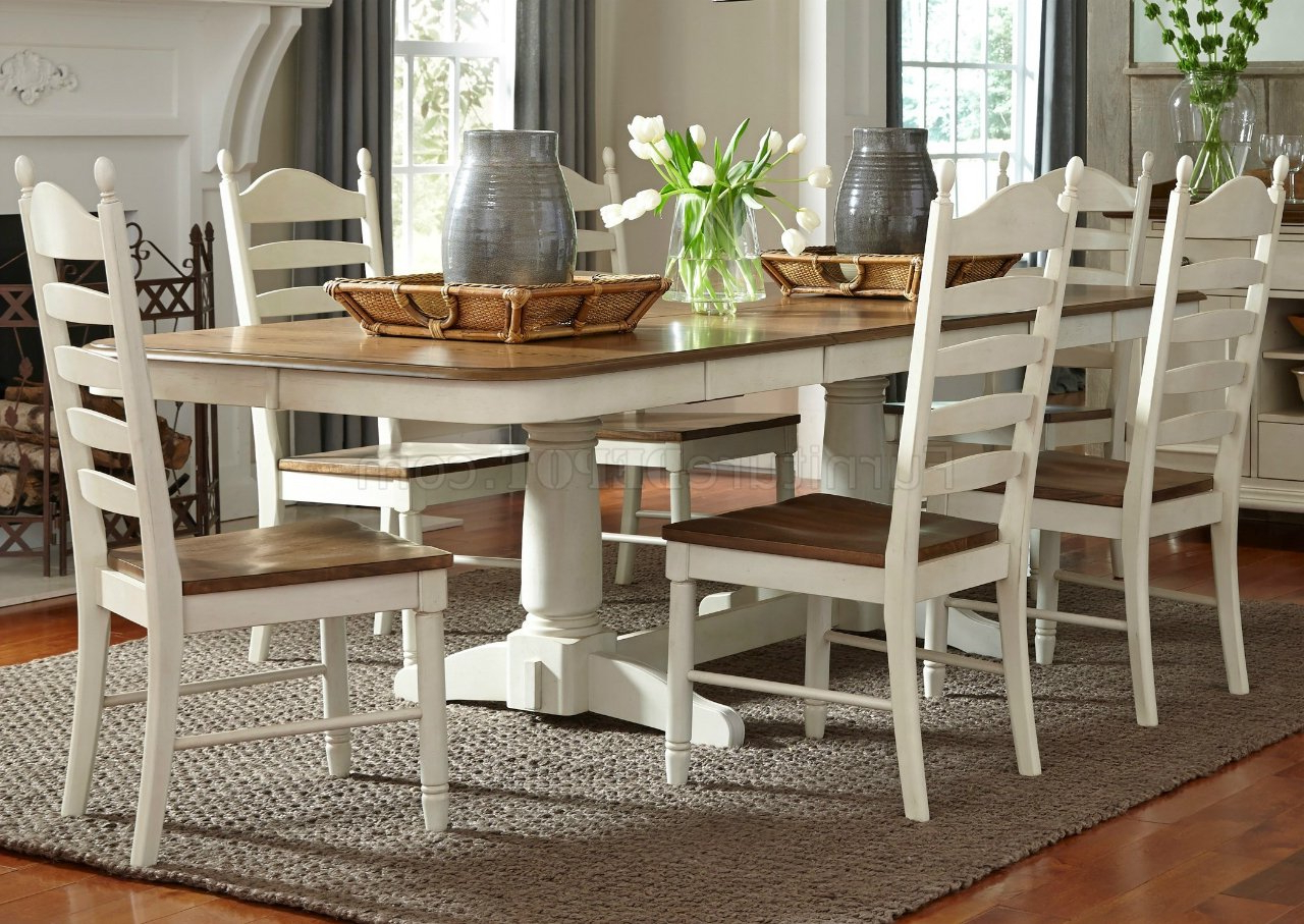 Springfield Dining 278 Cd Ps 7pc Set In Honey & Creamliberty Intended For Widely Used Springfield 3 Piece Dining Sets (View 2 of 20)