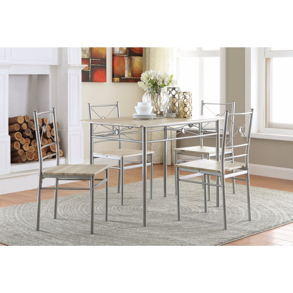 Stouferberg 5 Piece Dining Sets For 2018 Constandache 5 Piece Dining Set (View 2 of 20)