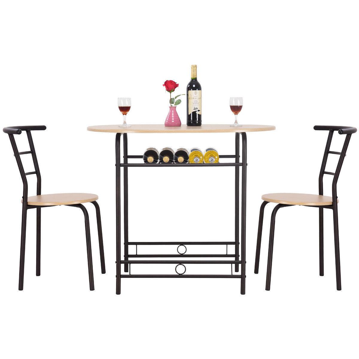 Symple Stuff Hassinger 3 Piece Dining Set Throughout Trendy Giles 3 Piece Dining Sets (View 15 of 20)
