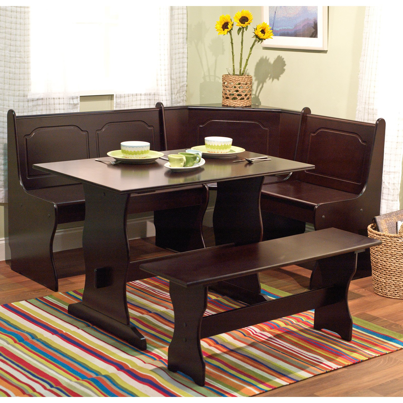 Target Marketing Systems 3 Piece Breakfast Nook Dining Set Intended For Most Current 3 Piece Breakfast Nook Dinning Set (Gallery 4 of 20)