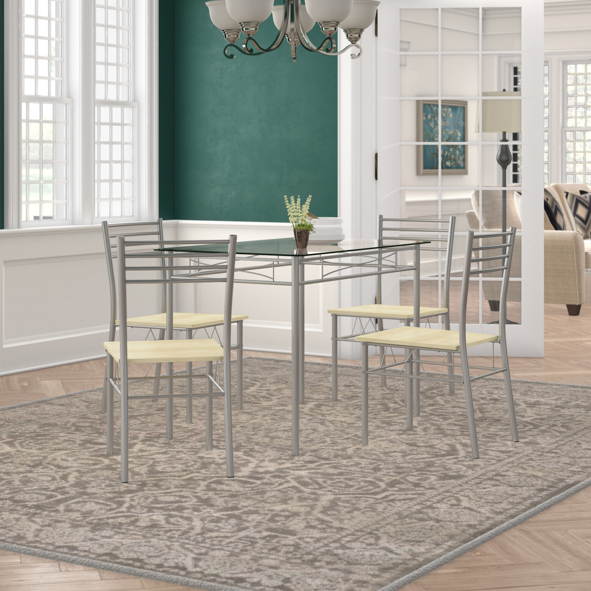 Featured Photo of Tavarez 5 Piece Dining Sets