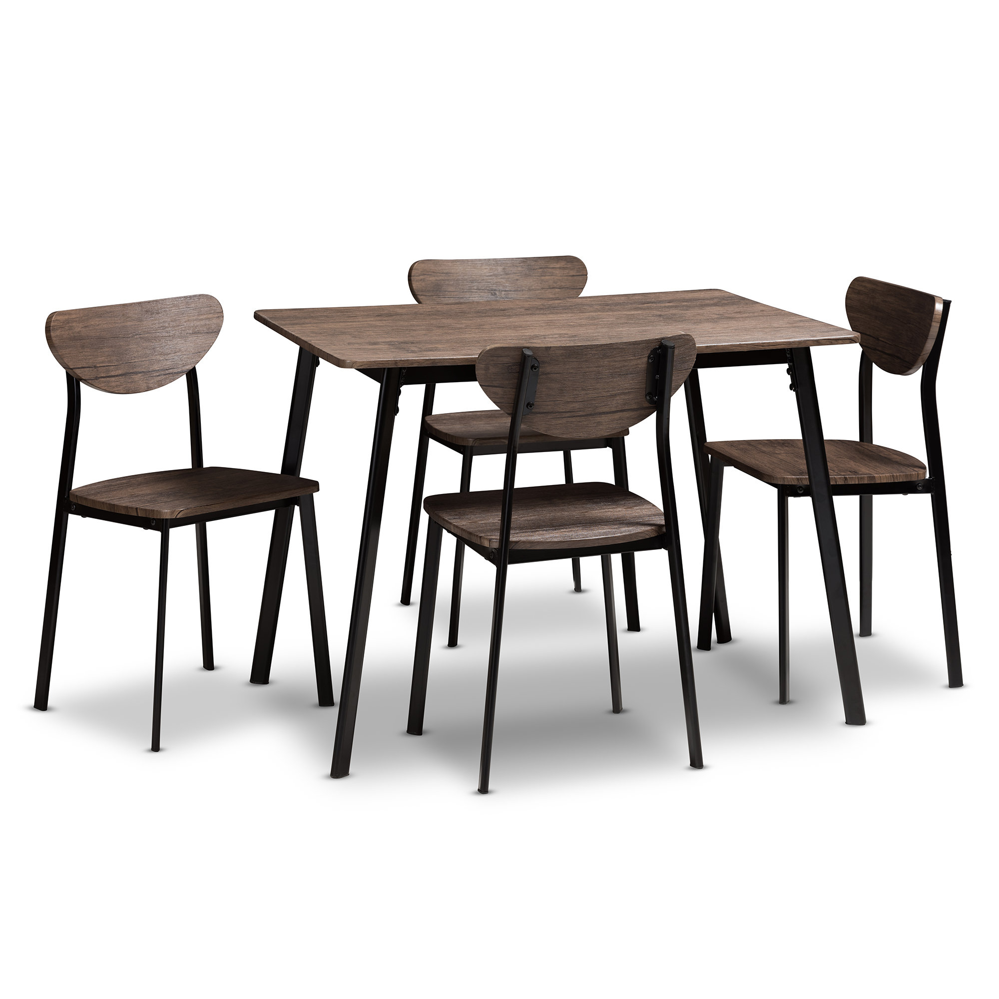 Tejeda 5 Piece Dining Set In Most Current Taulbee 5 Piece Dining Sets (View 12 of 20)