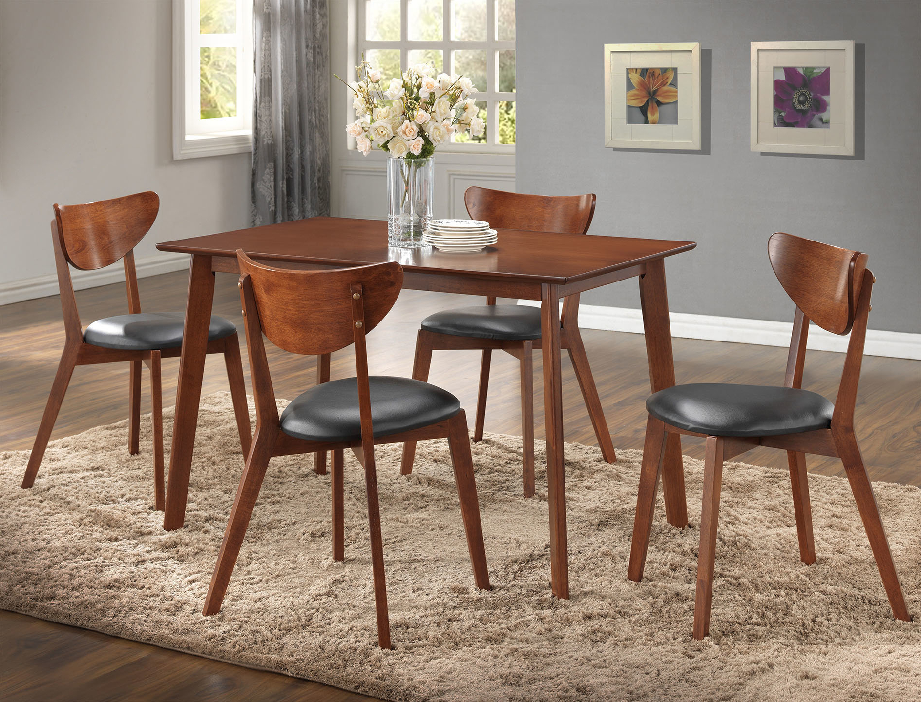 Tejeda 5 Piece Dining Sets For Fashionable Urijah 5 Piece Dining Set (View 13 of 20)