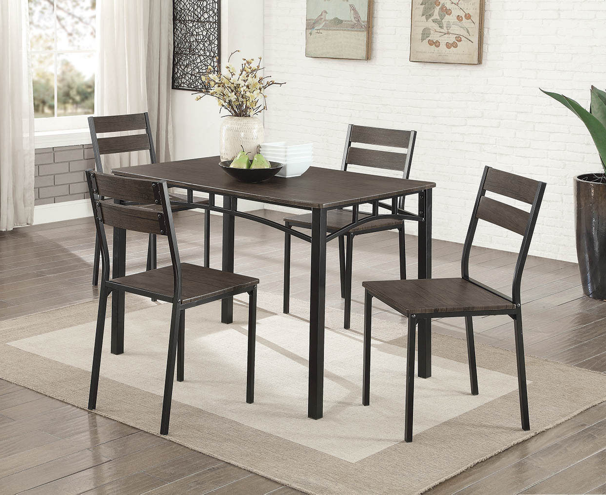 Tejeda 5 Piece Dining Sets Intended For 2017 Autberry 5 Piece Dining Set (View 14 of 20)